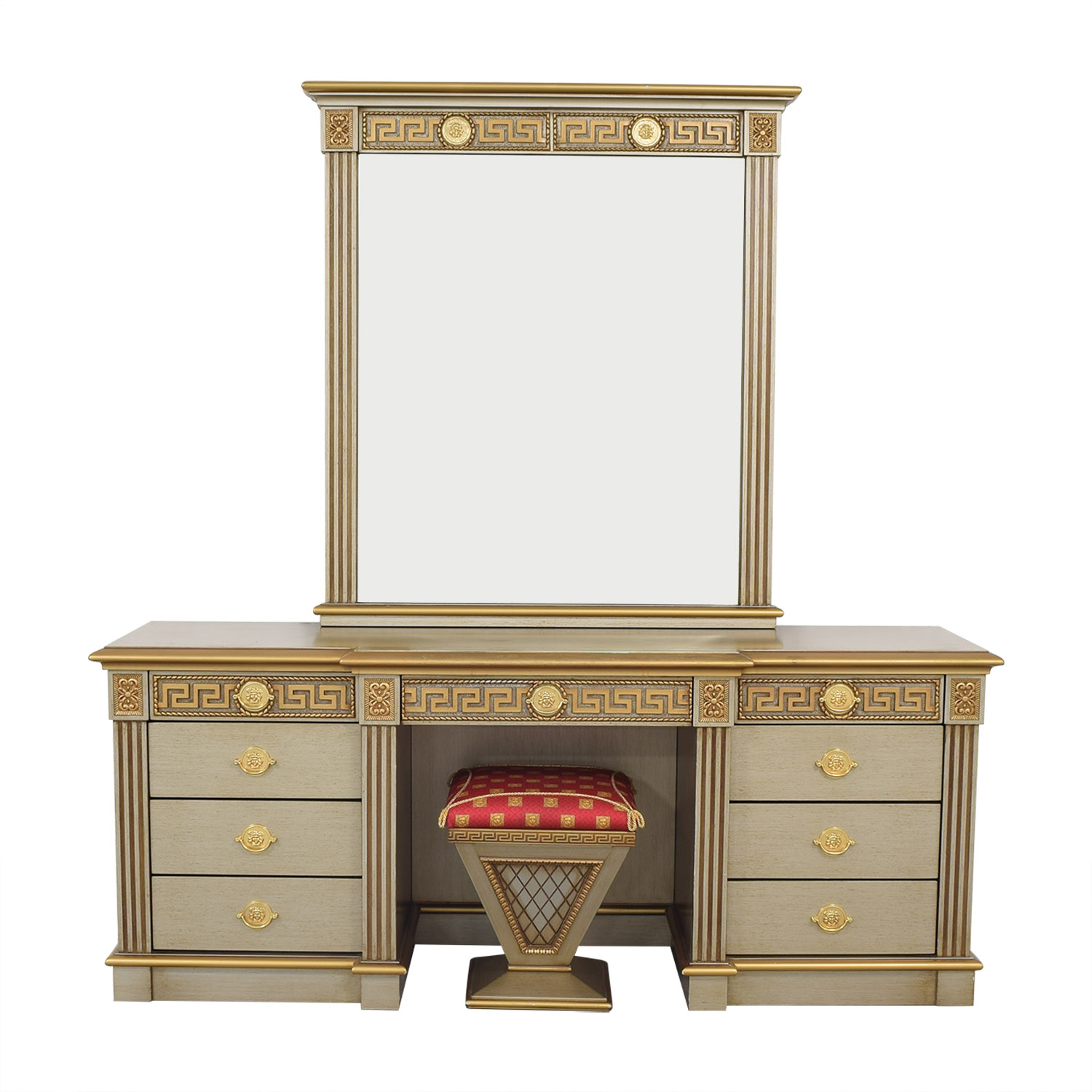 shop Versace-Style Vanity Table and Stool  Home Office Desks