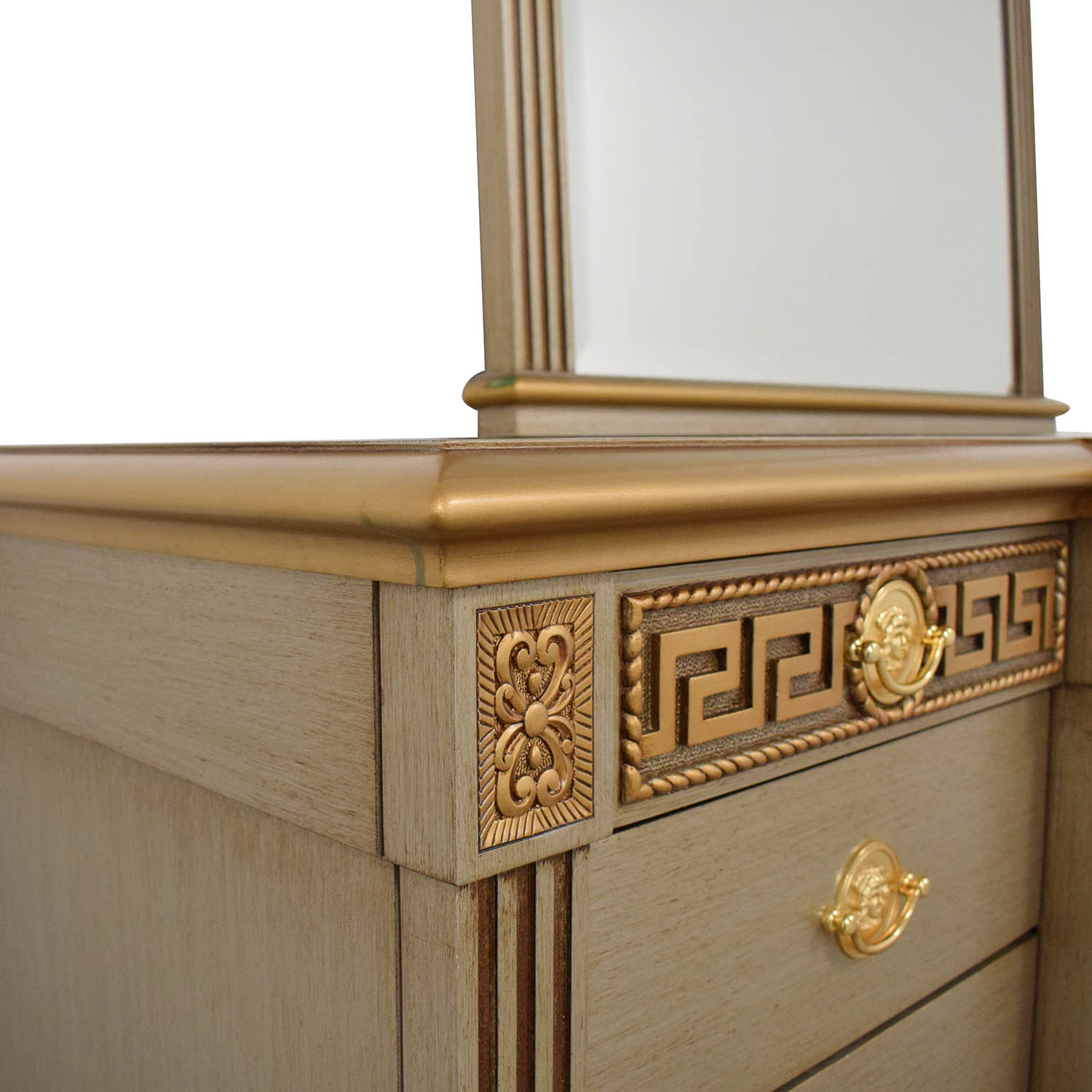 Versace-Style Vanity Table and Stool for sale
