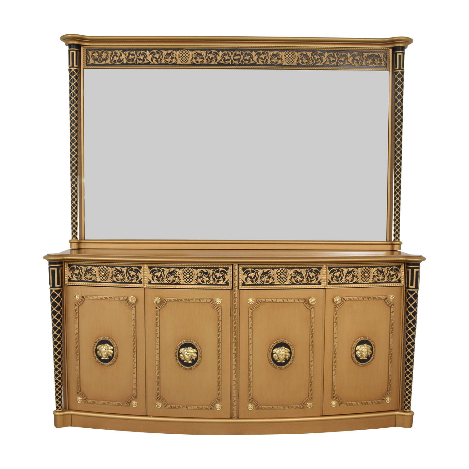 Versace-Style Console Dresser with Mirror price