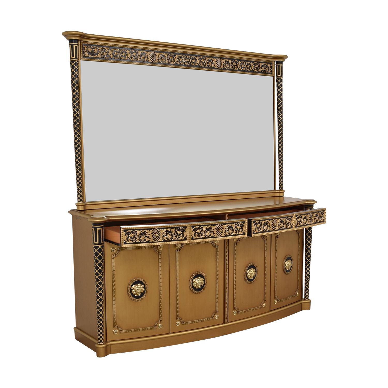 shop Versace Console Dresser with Mirror Versace