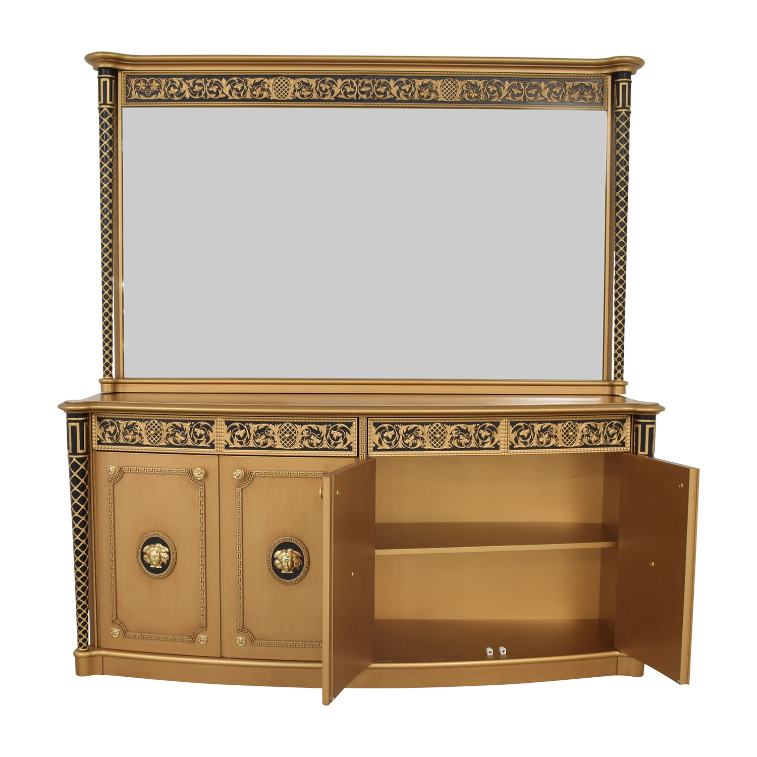 buy Versace Console Dresser with Mirror Versace Cabinets & Sideboards