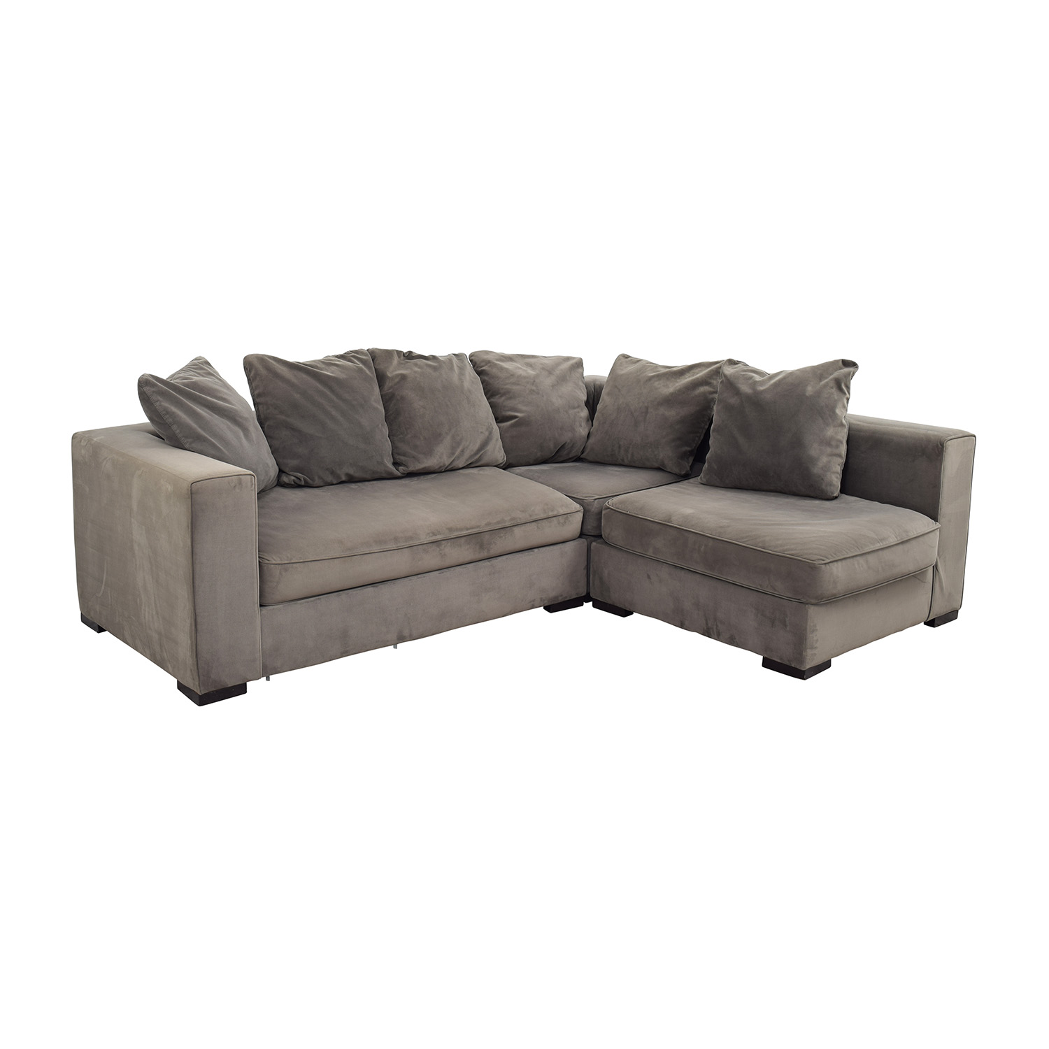 53 Off West Elm West Elm Modular Gray Sectional Sofas