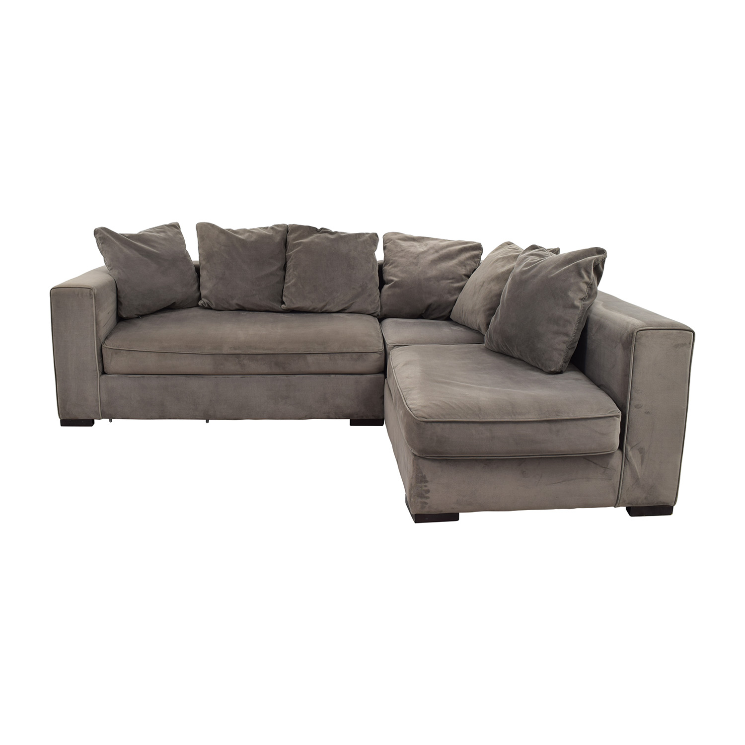 shop West Elm Modular Gray Sectional West Elm