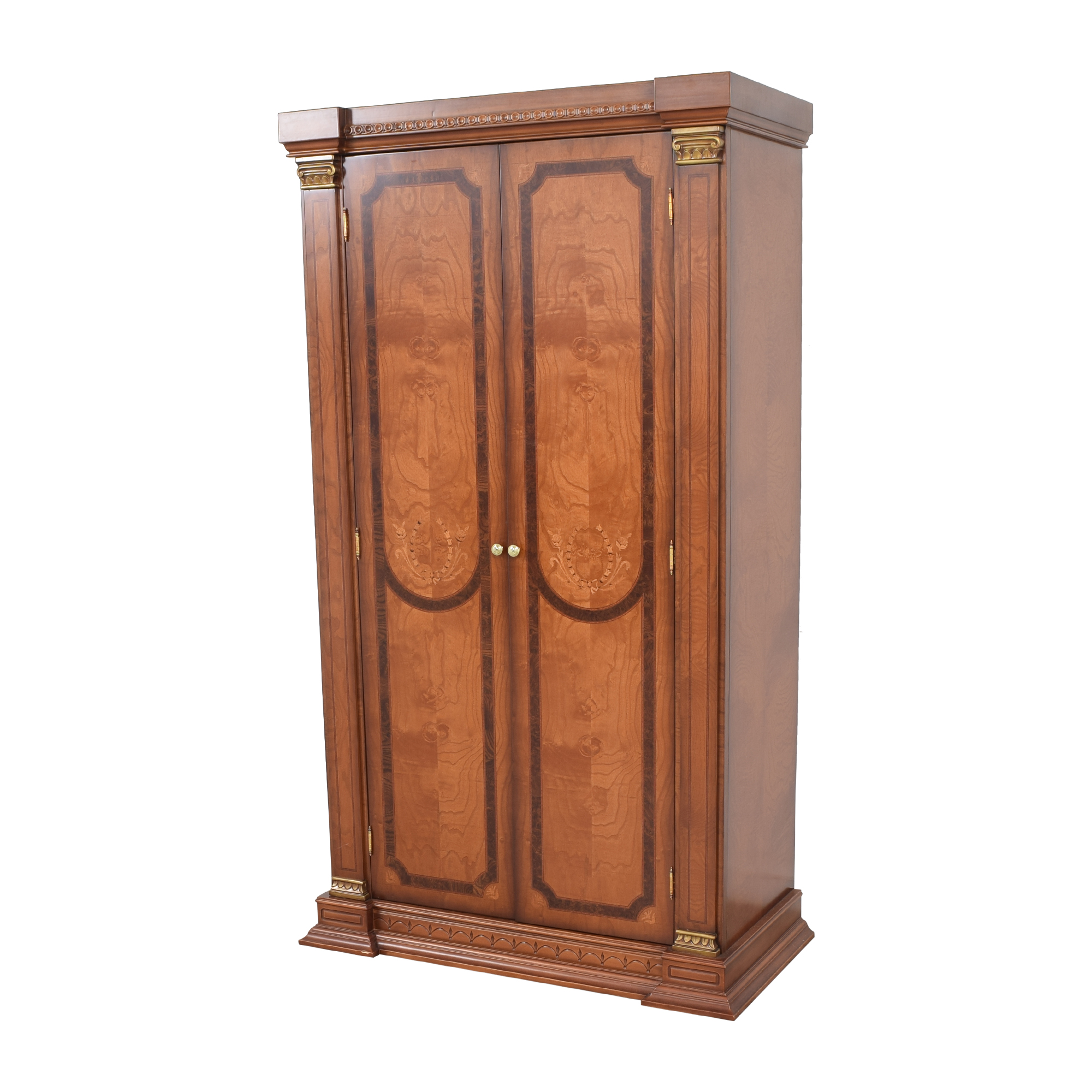 shop Two Door Armoire with Carved Detail  Storage