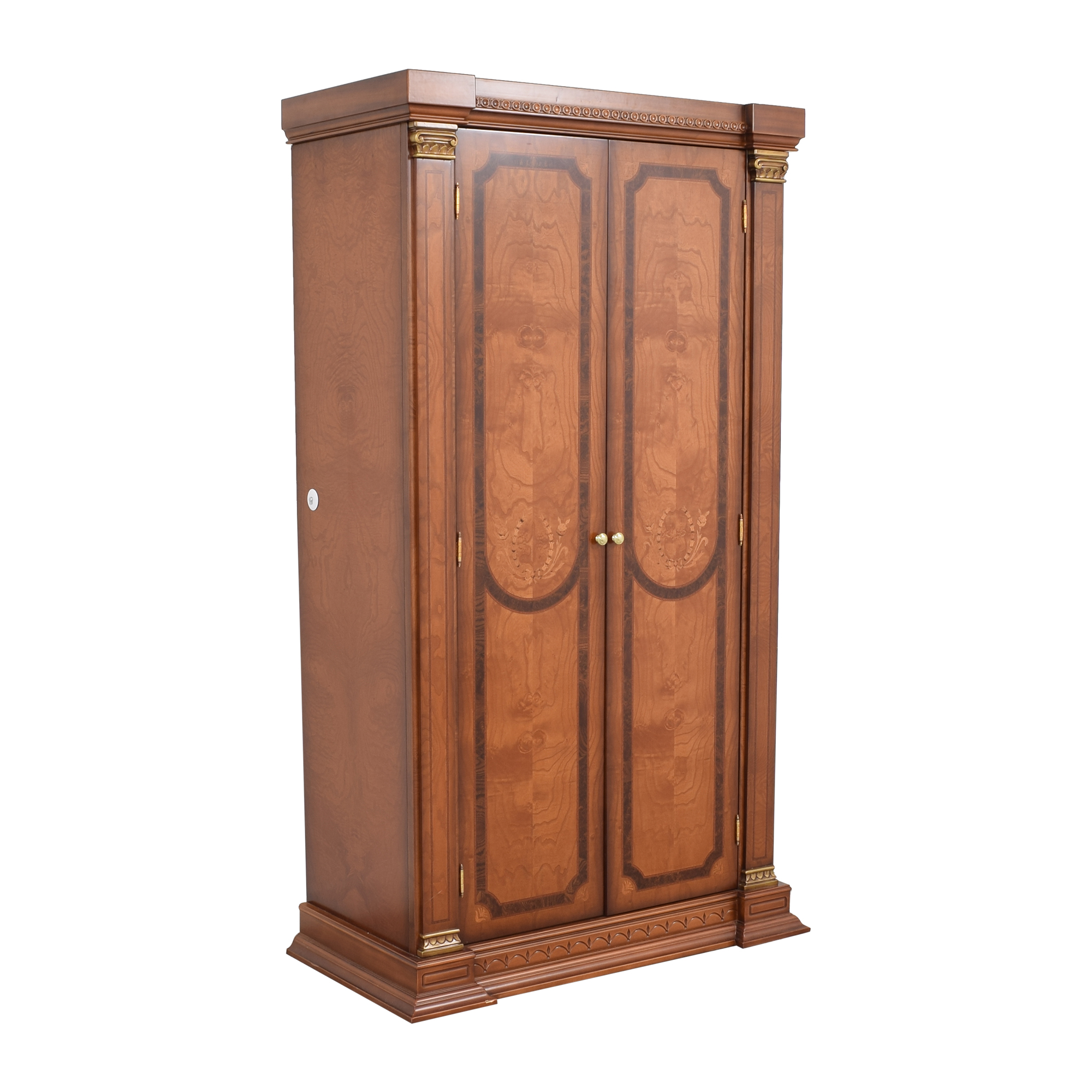 Two Door Armoire with Carved Detail on sale