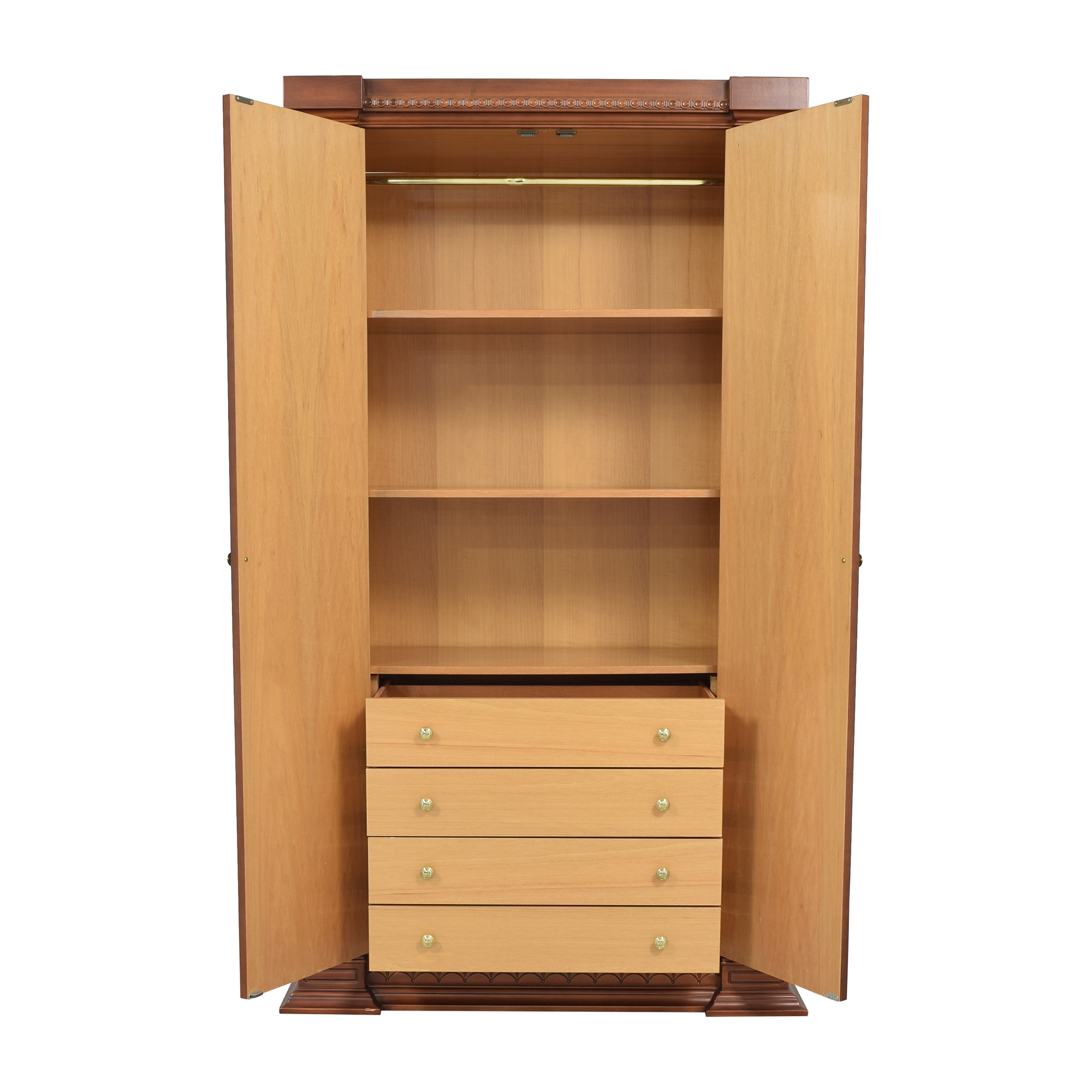 buy Two Door Armoire with Carved Detail  Storage