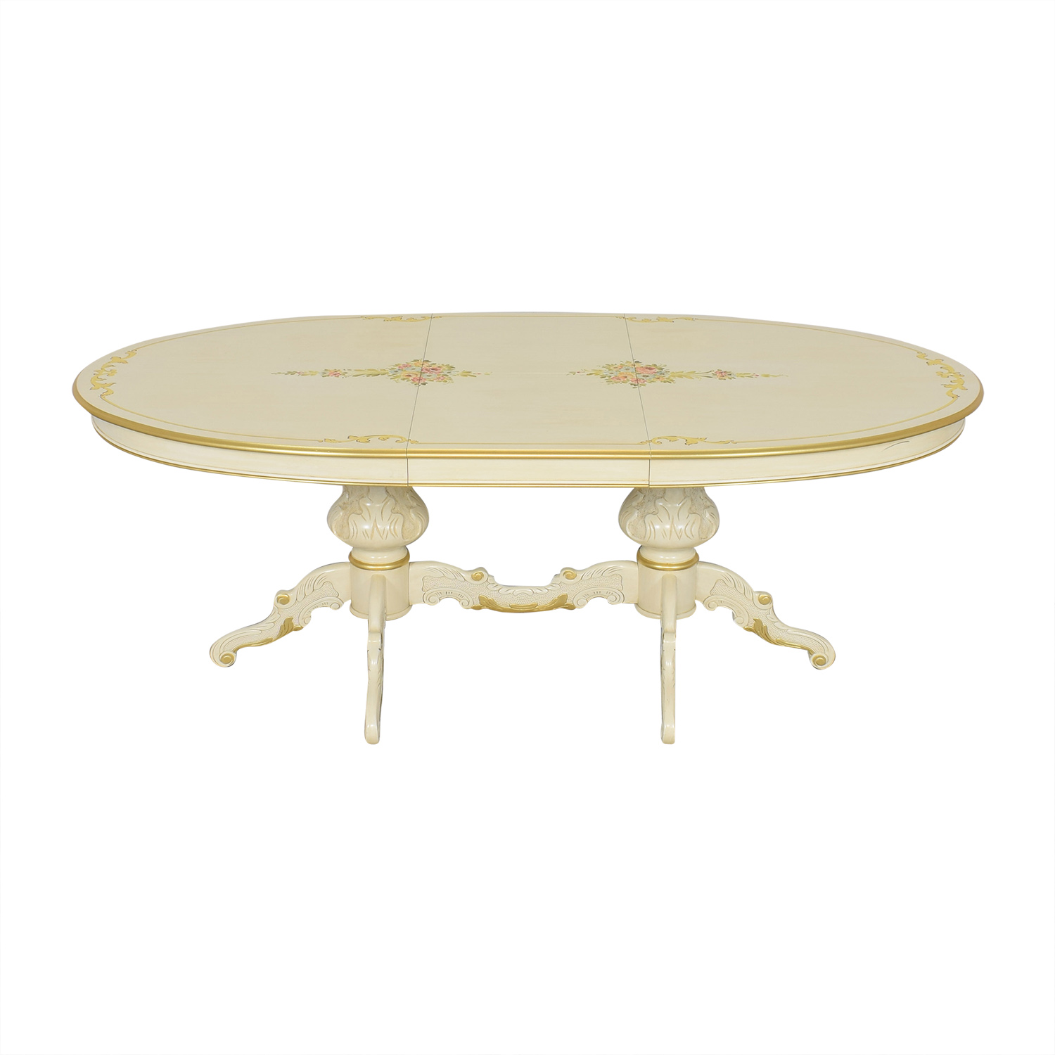 Oval Double Pedestal Dining Table on sale