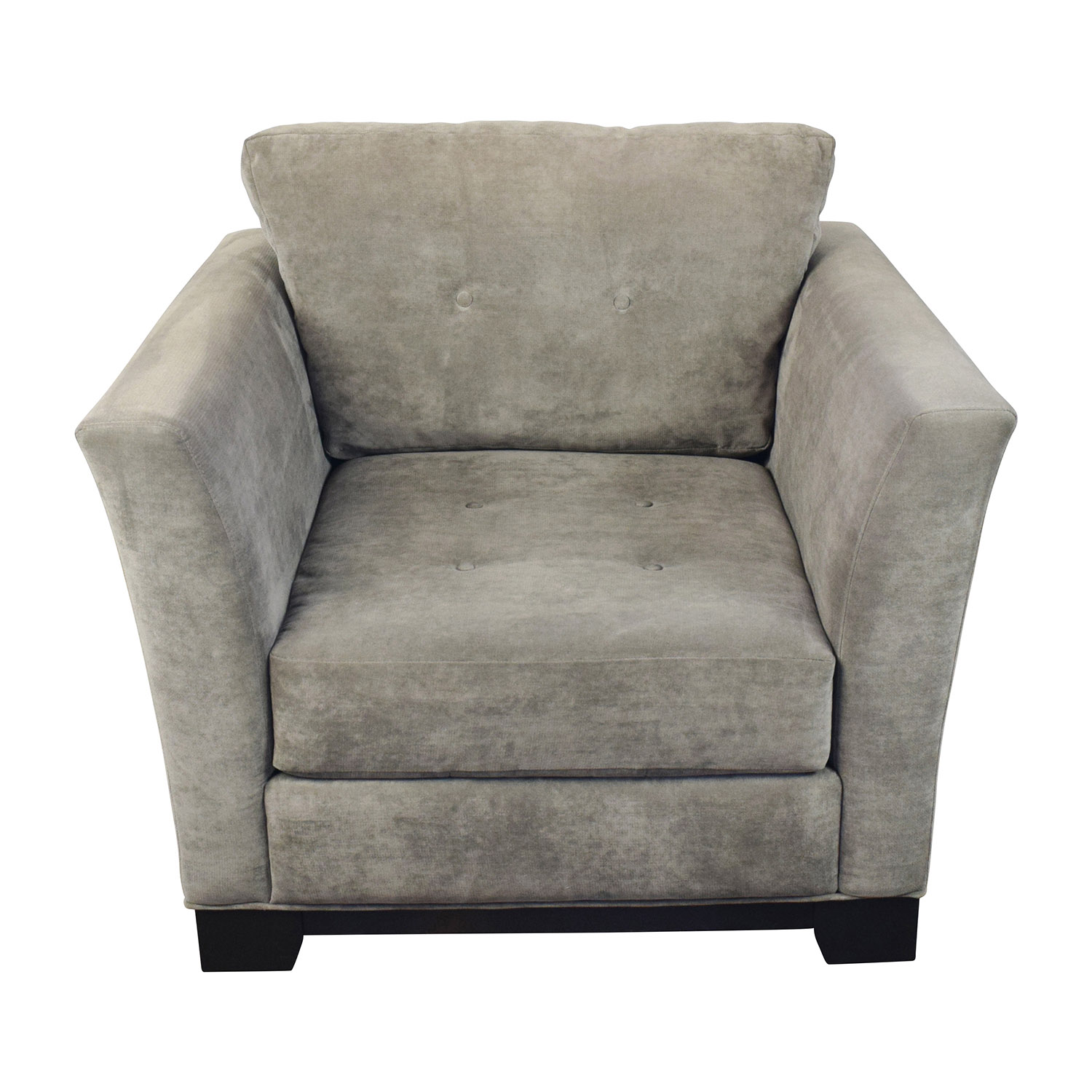 shop Macys Macys Grey Tufted Arm Chair online