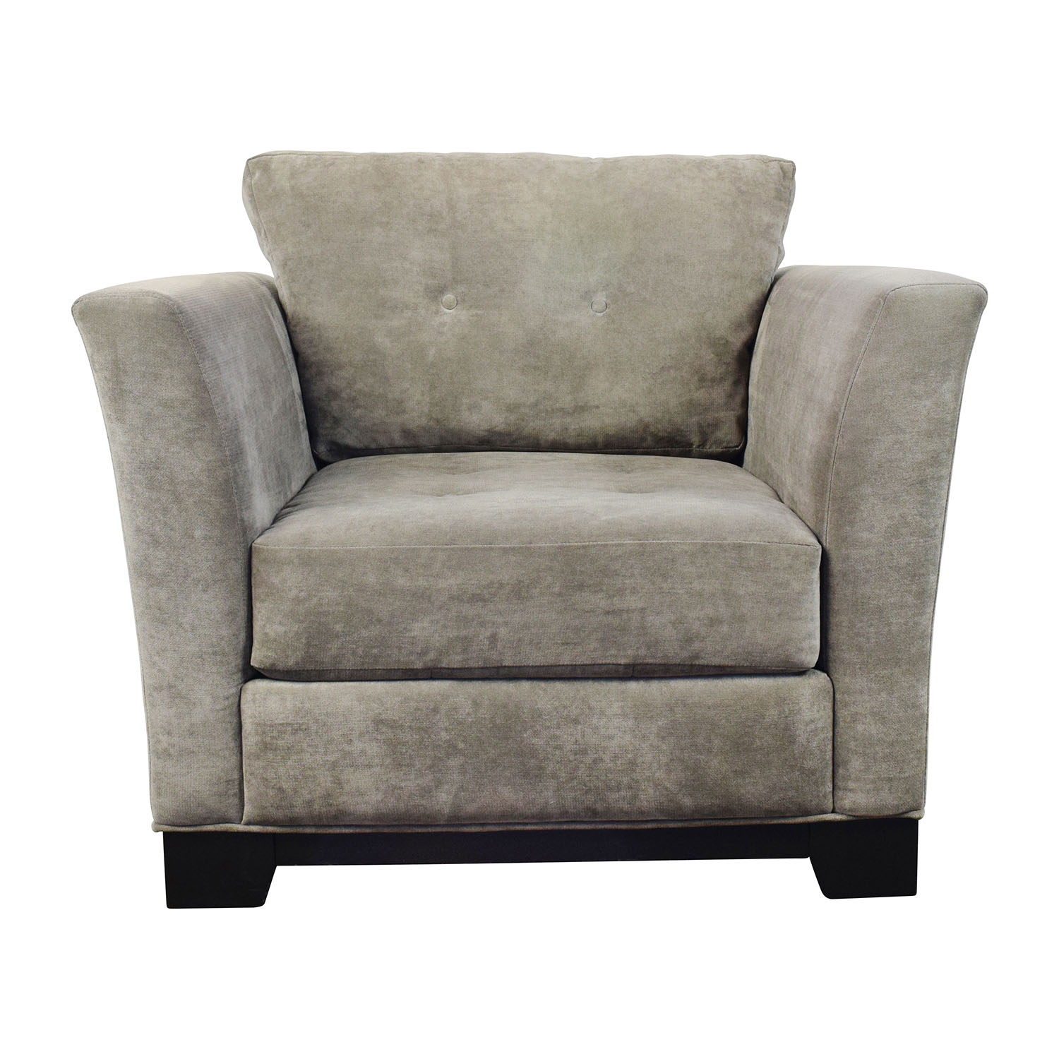 Macys Macys Grey Tufted Arm Chair used