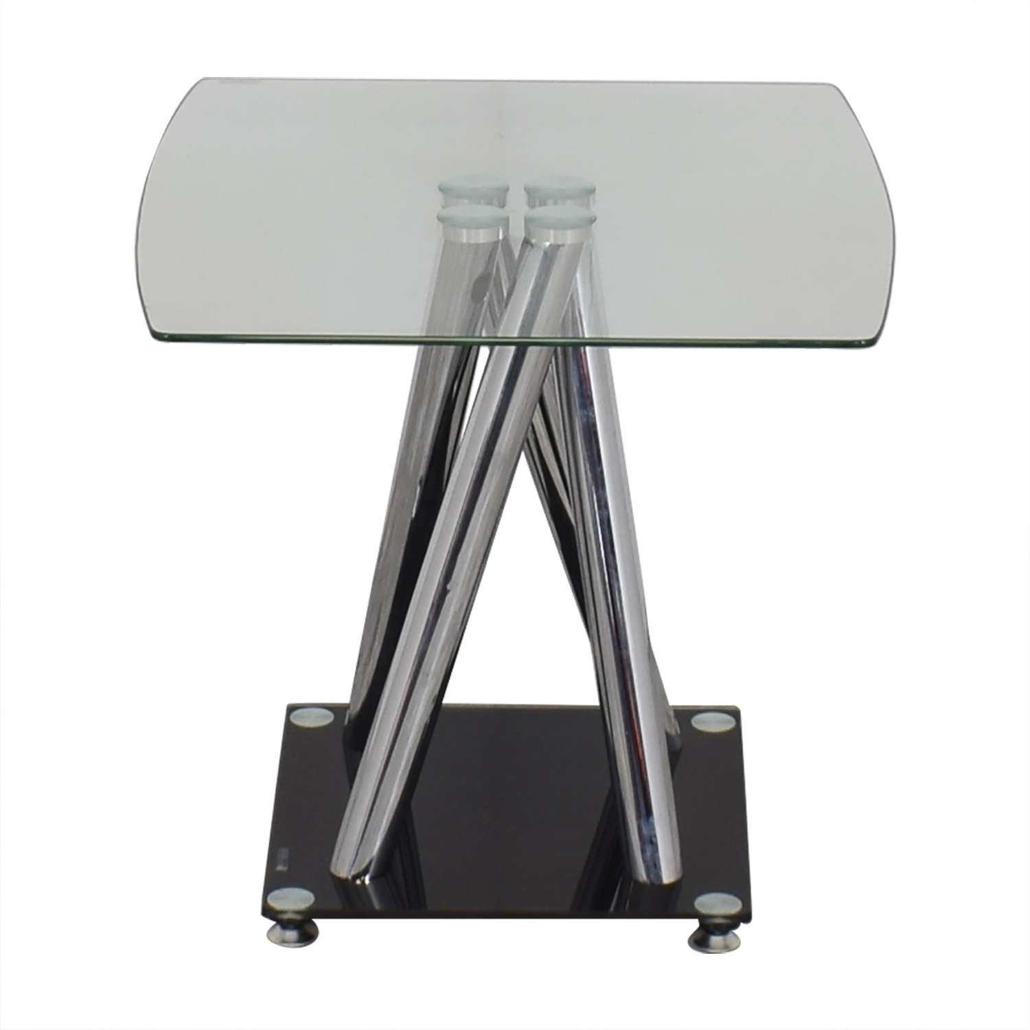 Modern Glass Side Table discount