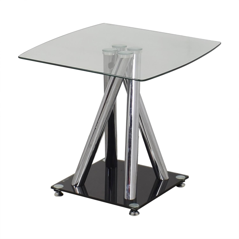 Modern Glass Side Table nj