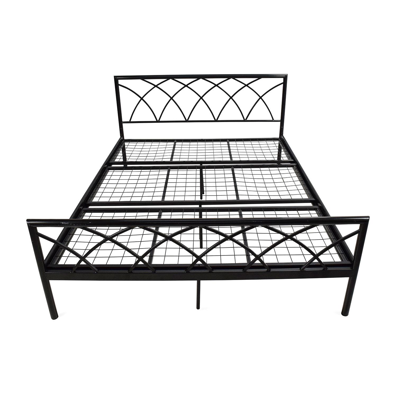 Overstock Queen Size Metal Bed Frame second hand