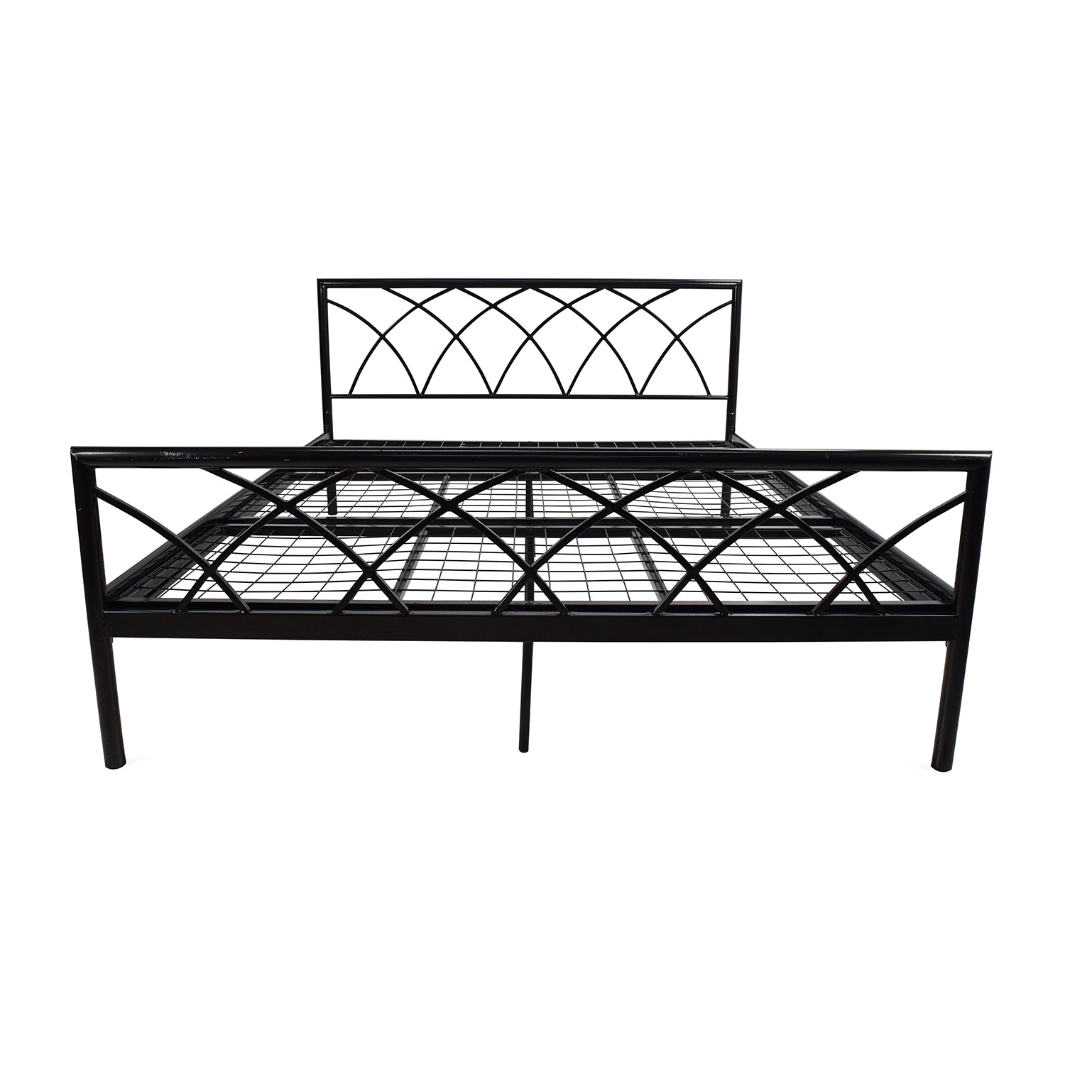 75 Off Overstock Queen Size Metal Bed Frame Beds