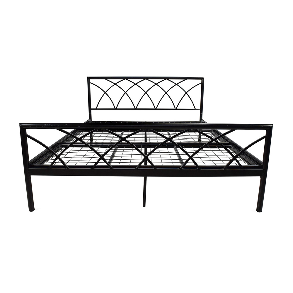 Black Metal Bed Frame Queen Helibeds Same Day Or Next Day