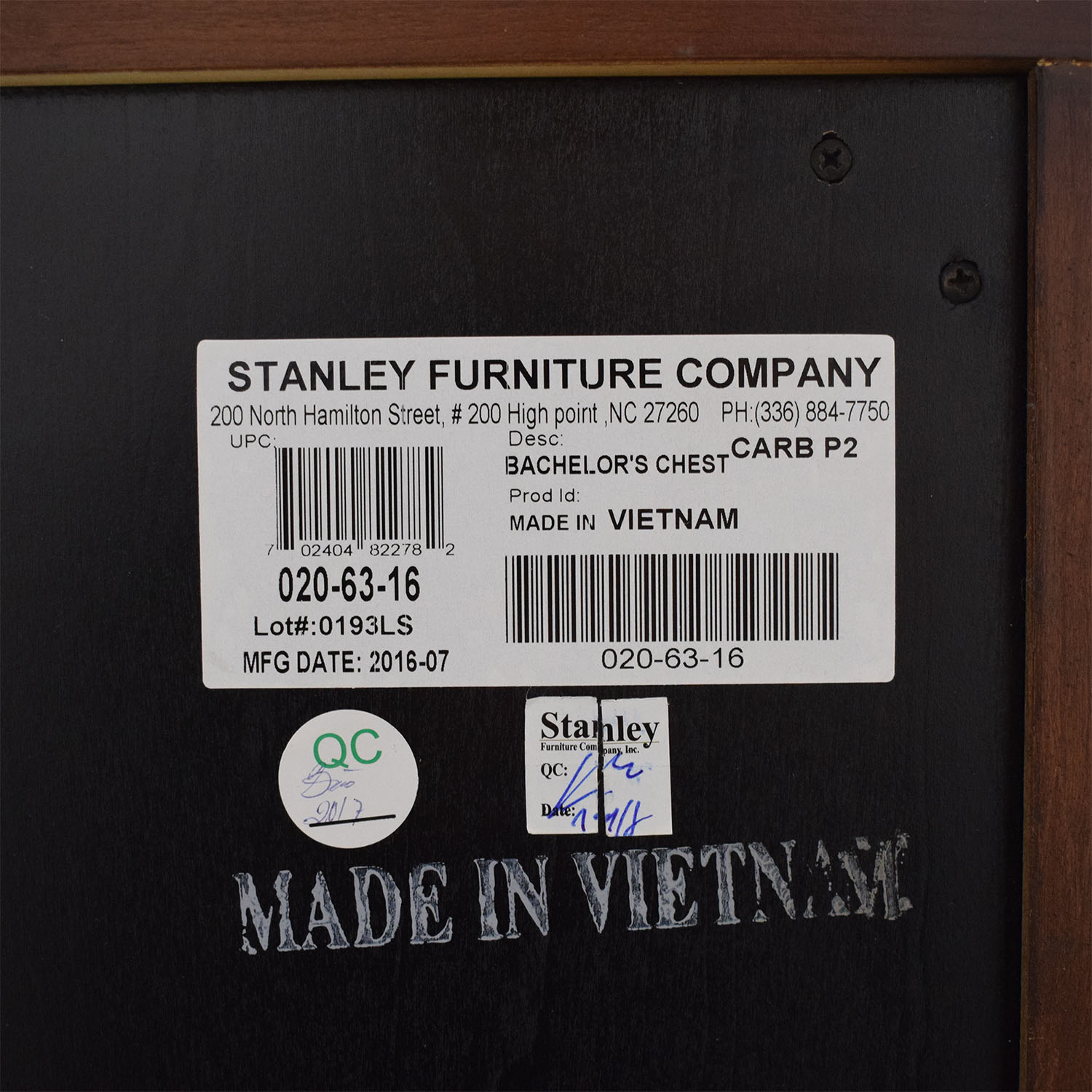buy Stanley Furniture Stanley Furniture British Colonial Bachelor Chest online