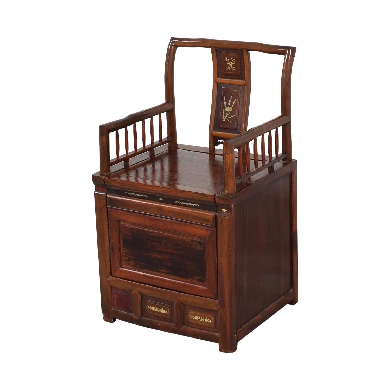 shop Antique Asian Wooden Storage Chair