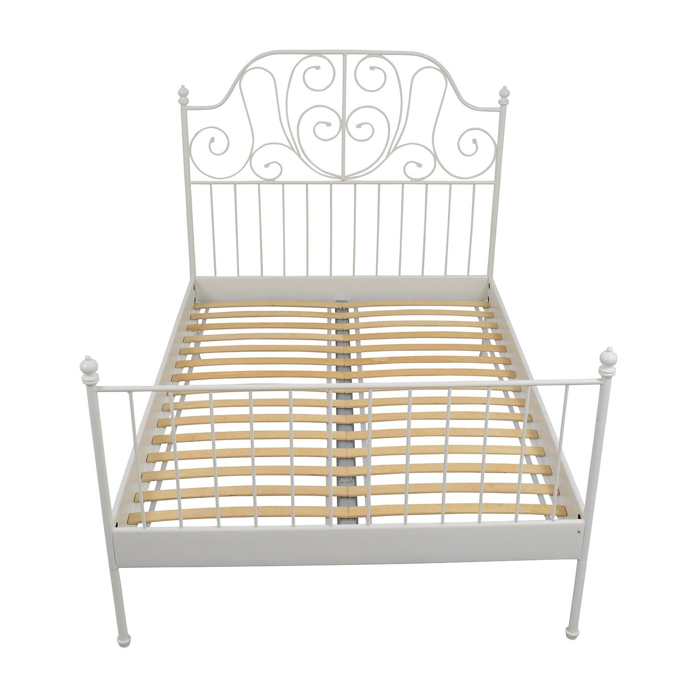 64 Off Ikea Leirvik Full Size Bed Frame Beds