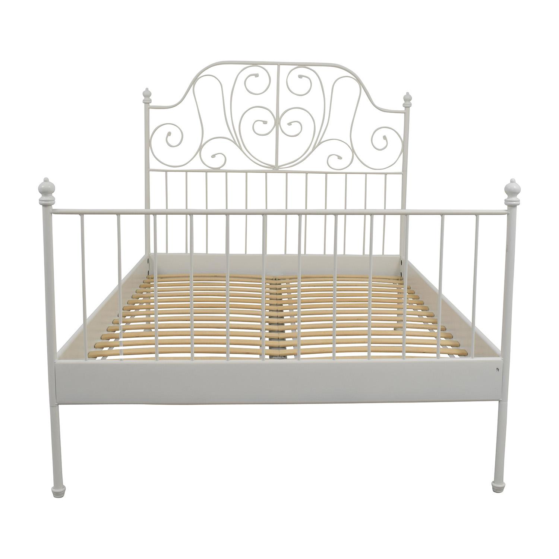 1e5073f1fc68 64% OFF - IKEA IKEA Leirvik Full Size Bed Frame   Beds
