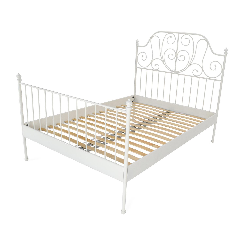 ikea leirvik full size bed frame discount