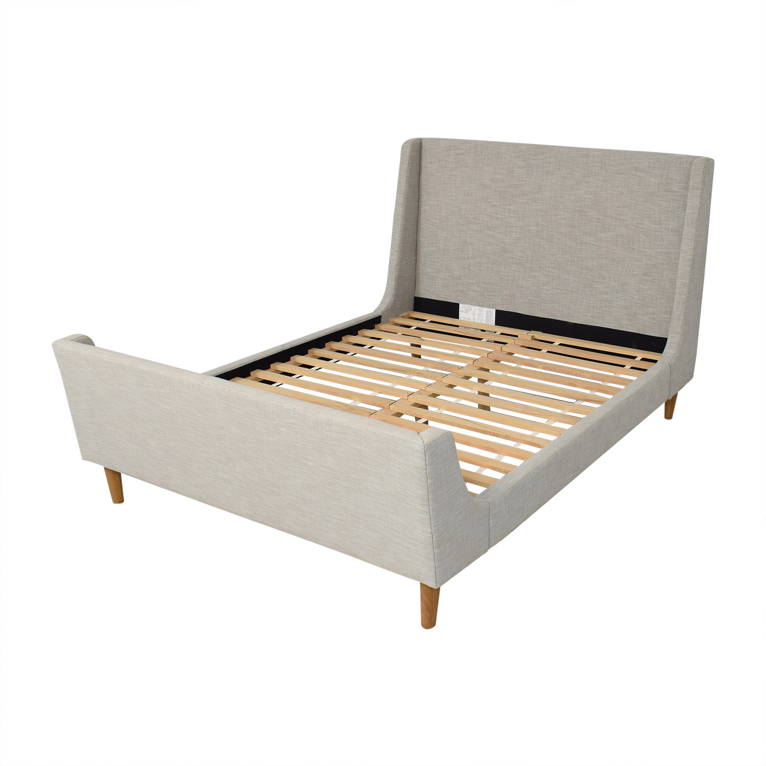 shop West Elm Upholstered Queen Sleigh Bed West Elm Beds