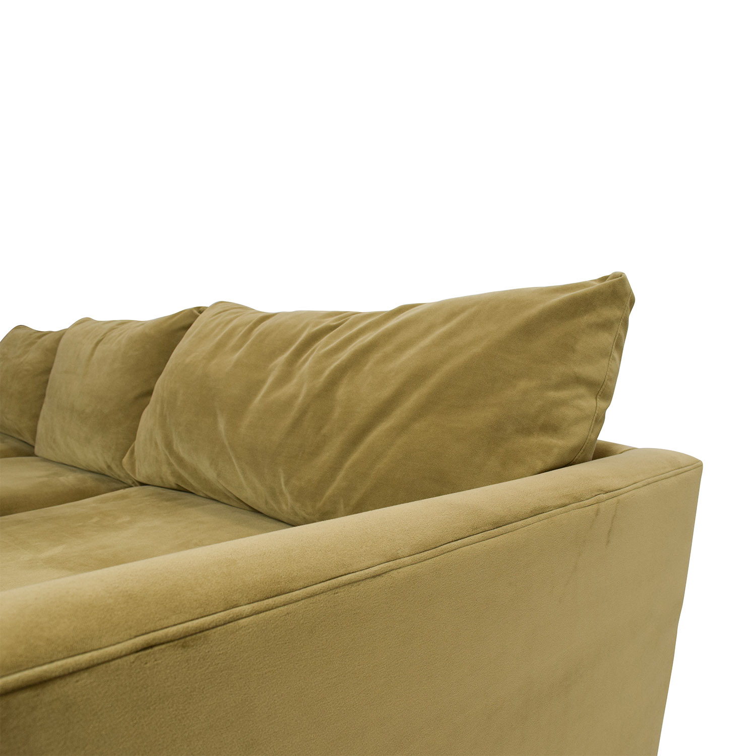 ... Crate And Barrel Crate And Barrel Lounge II Sectional Sofa Camel ...