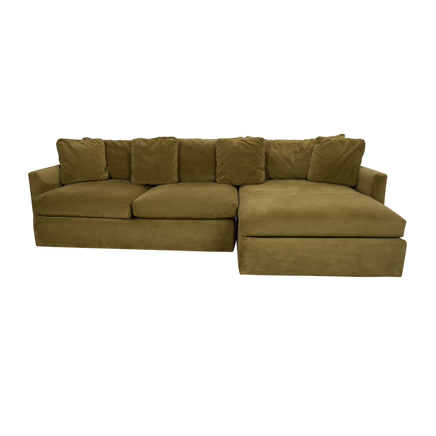65% OFF - Crate & Barrel Crate and Barrel Lounge II Sectional Sofa ...