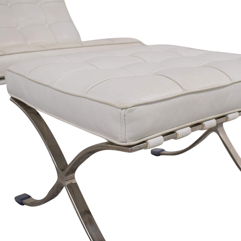 Knoll-Style Barcelona Chair and Ottoman ma
