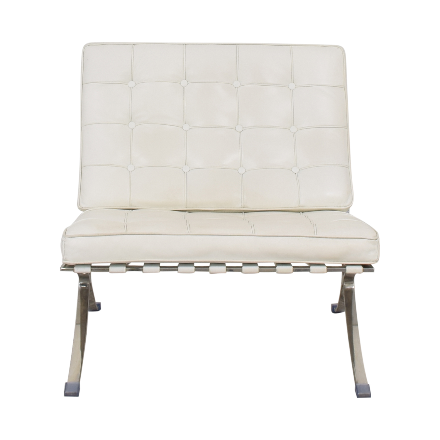 shop Knoll-Style Barcelona Chair and Ottoman  Accent Chairs