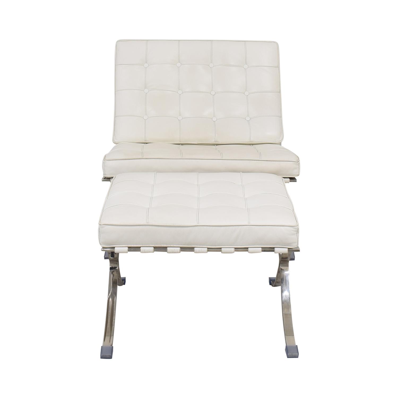 shop Knoll-Style Barcelona Chair and Ottoman