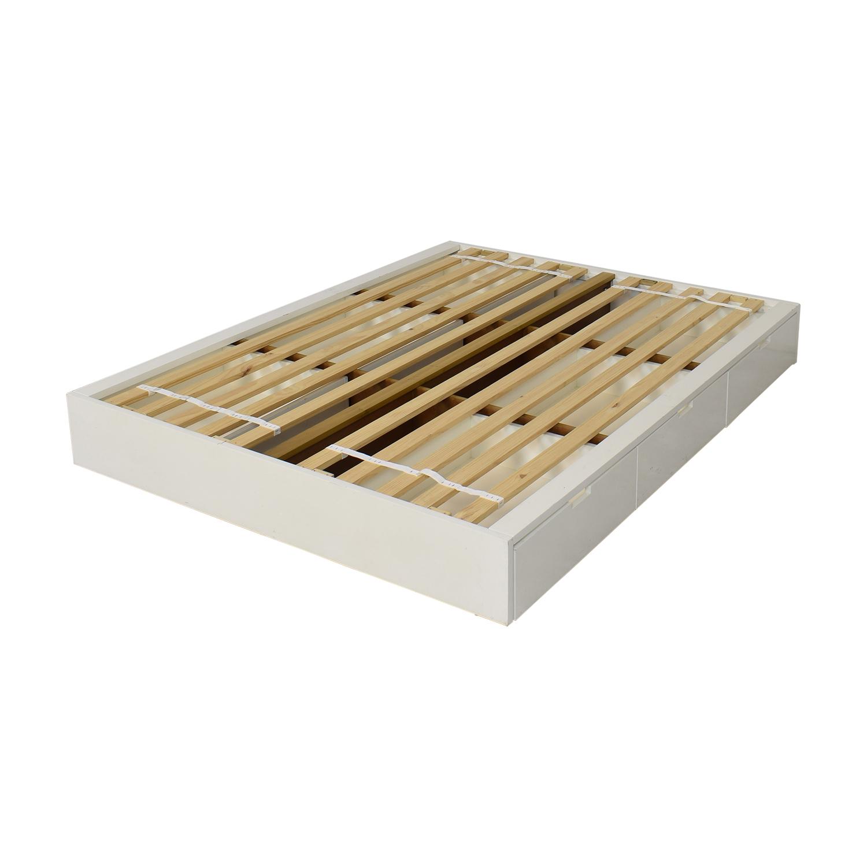CB2 Stowaway Queen Storage Platform Bed / Beds