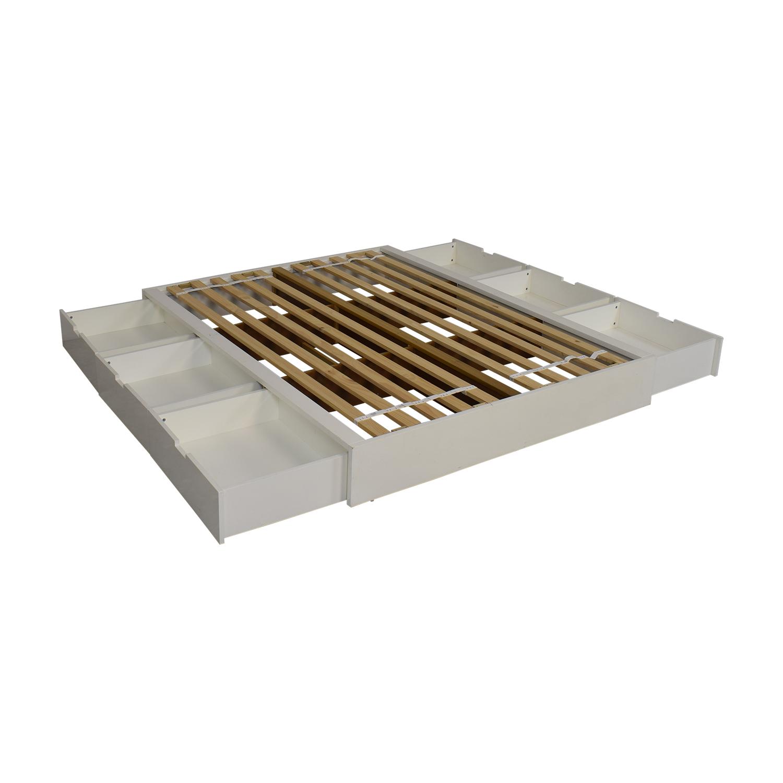 shop CB2 CB2 Stowaway Queen Storage Platform Bed online