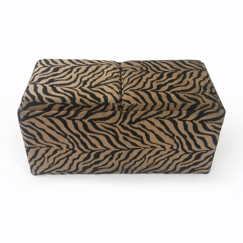 Zebra print ottoman nyc