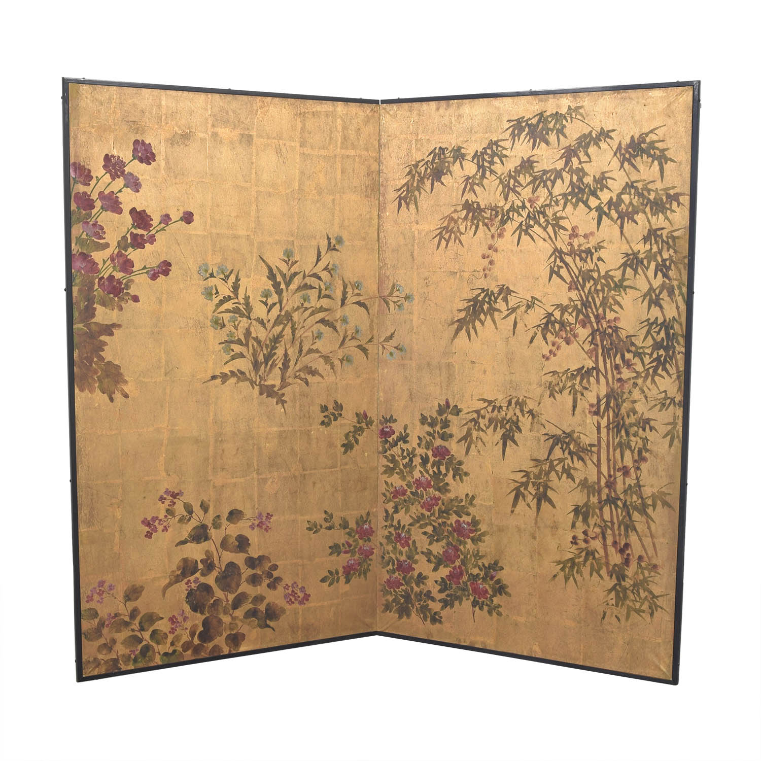 Japanese Style Two Panel Room Divider nyc