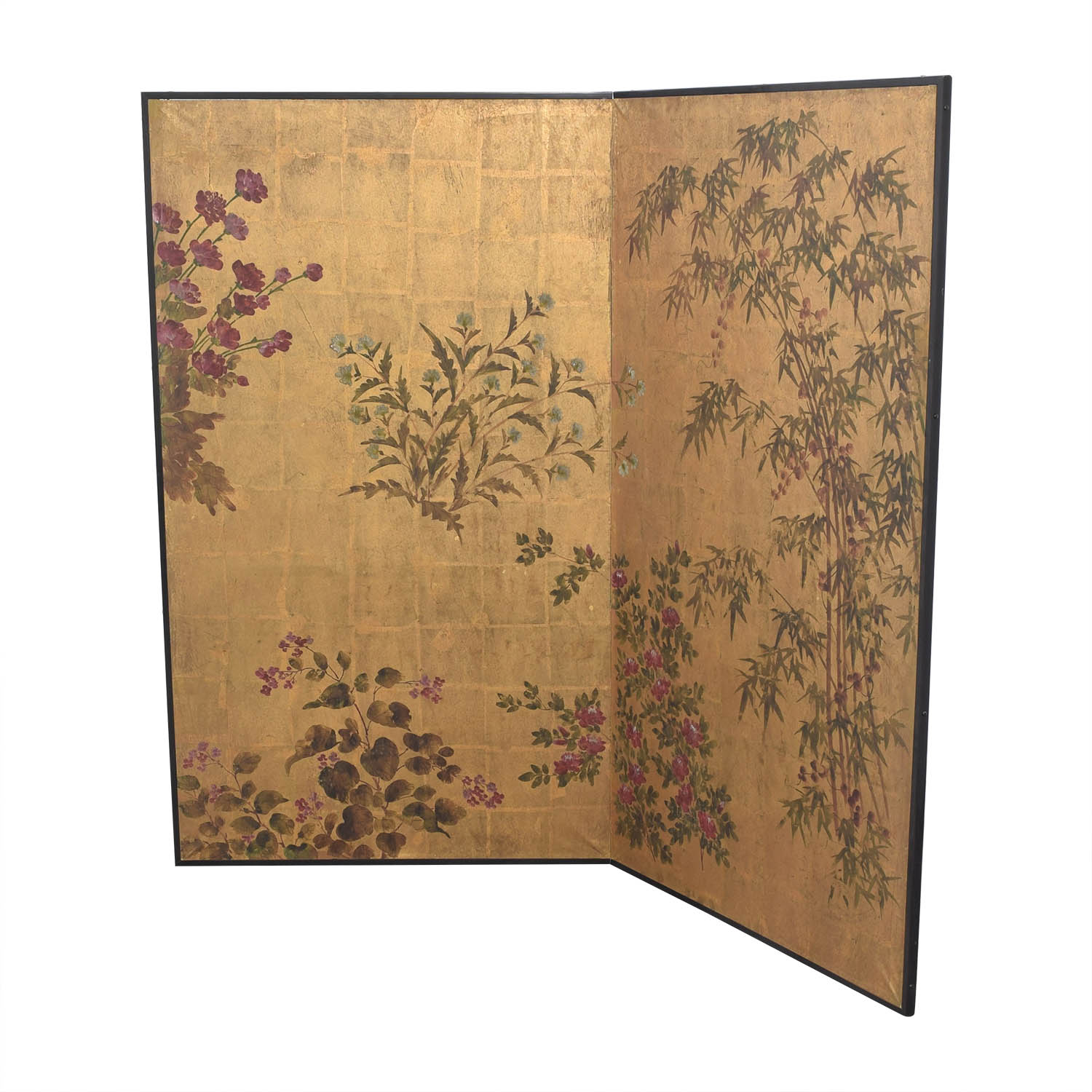 80 Off Japanese Style Two Panel Room Divider Decor