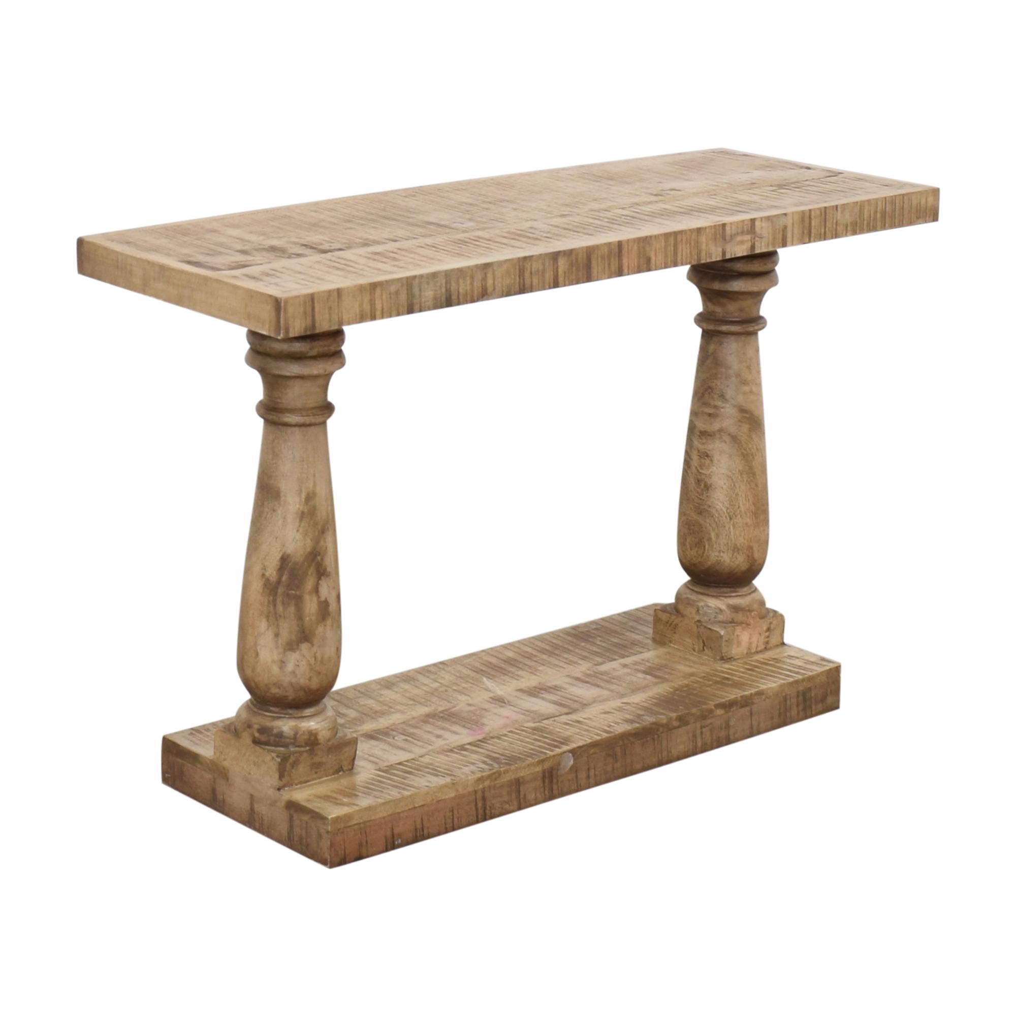 Macy's Macy's Rustic Turned Leg Console Table pa