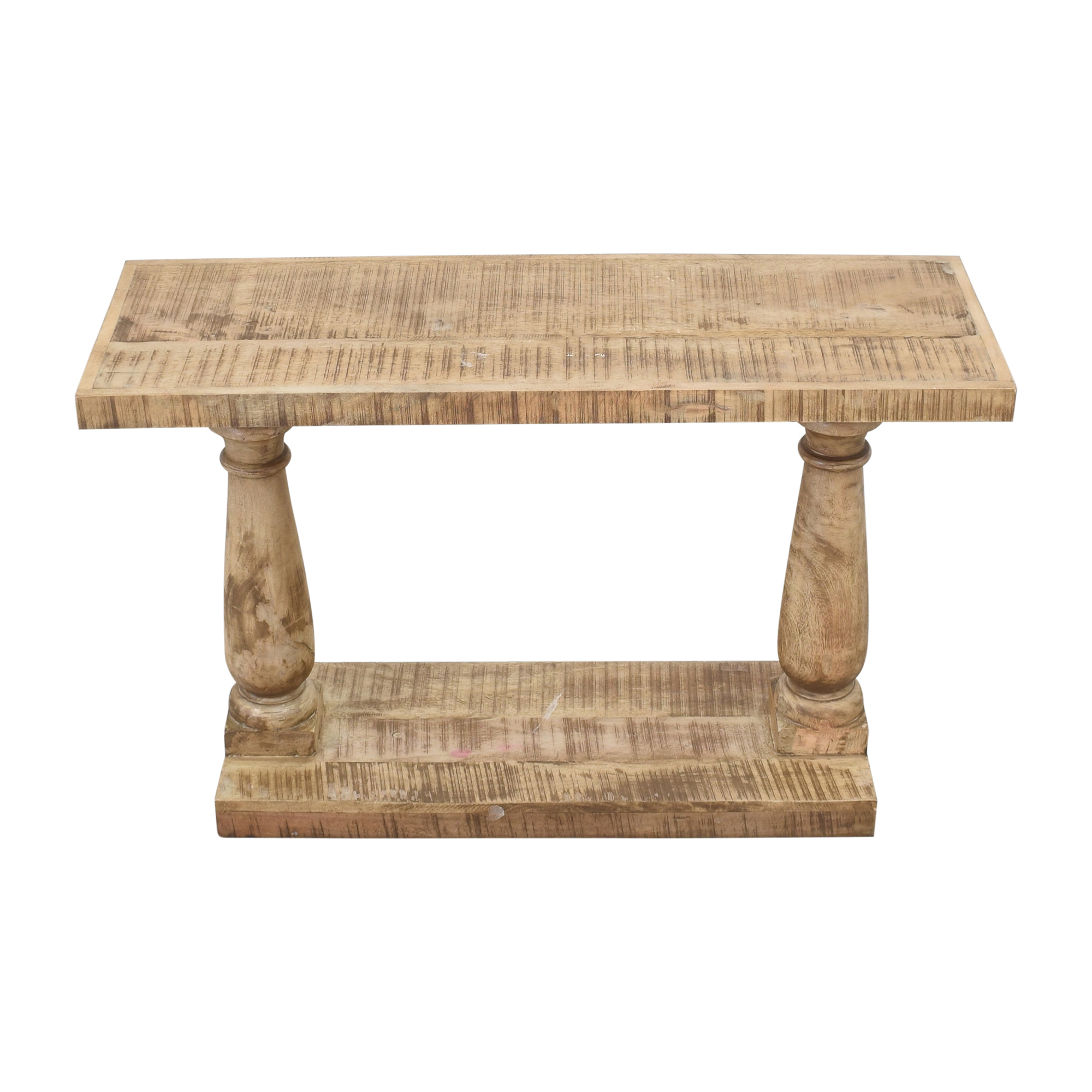 Macy's Macy's Rustic Turned Leg Console Table Tables