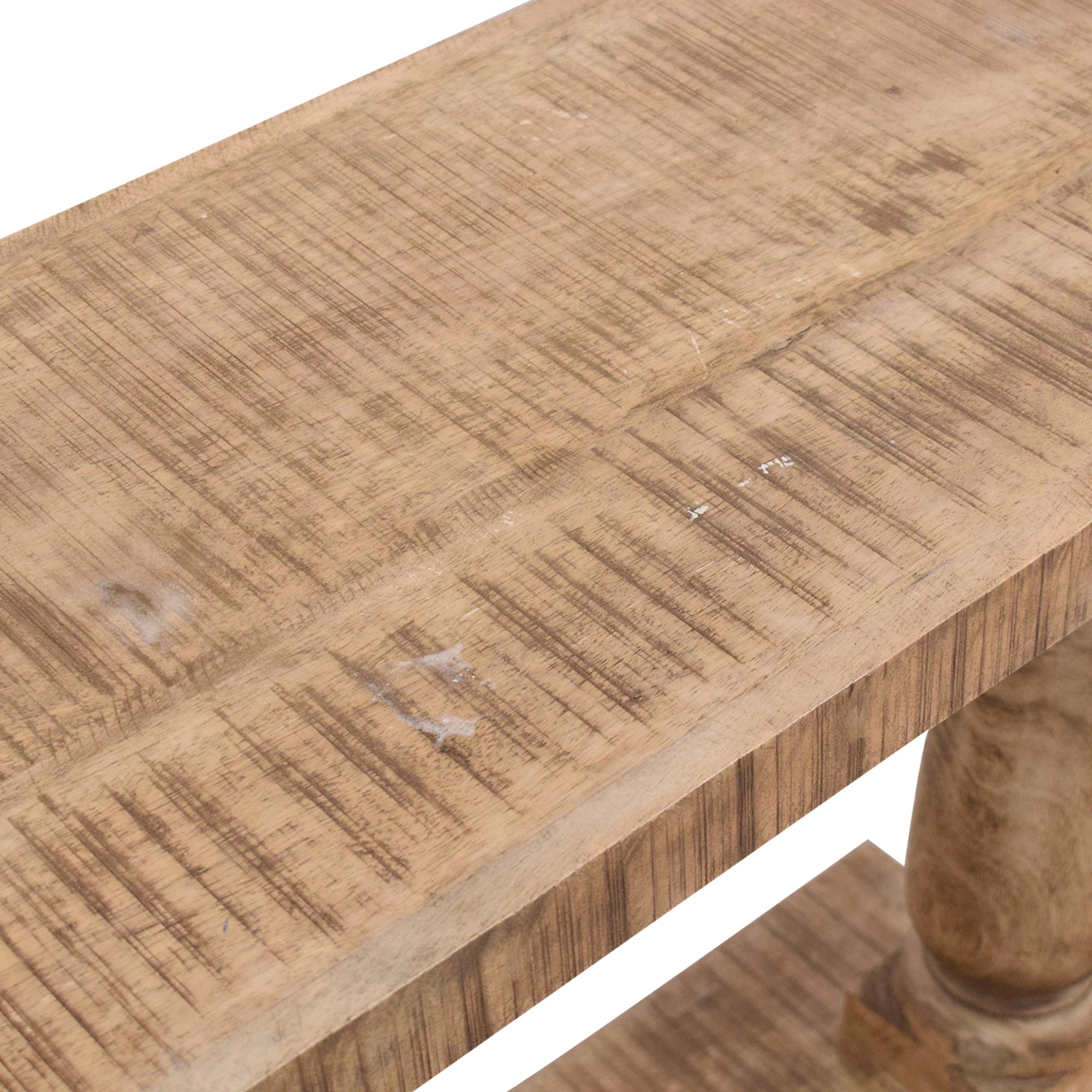 buy Macy's Rustic Turned Leg Console Table Macy's