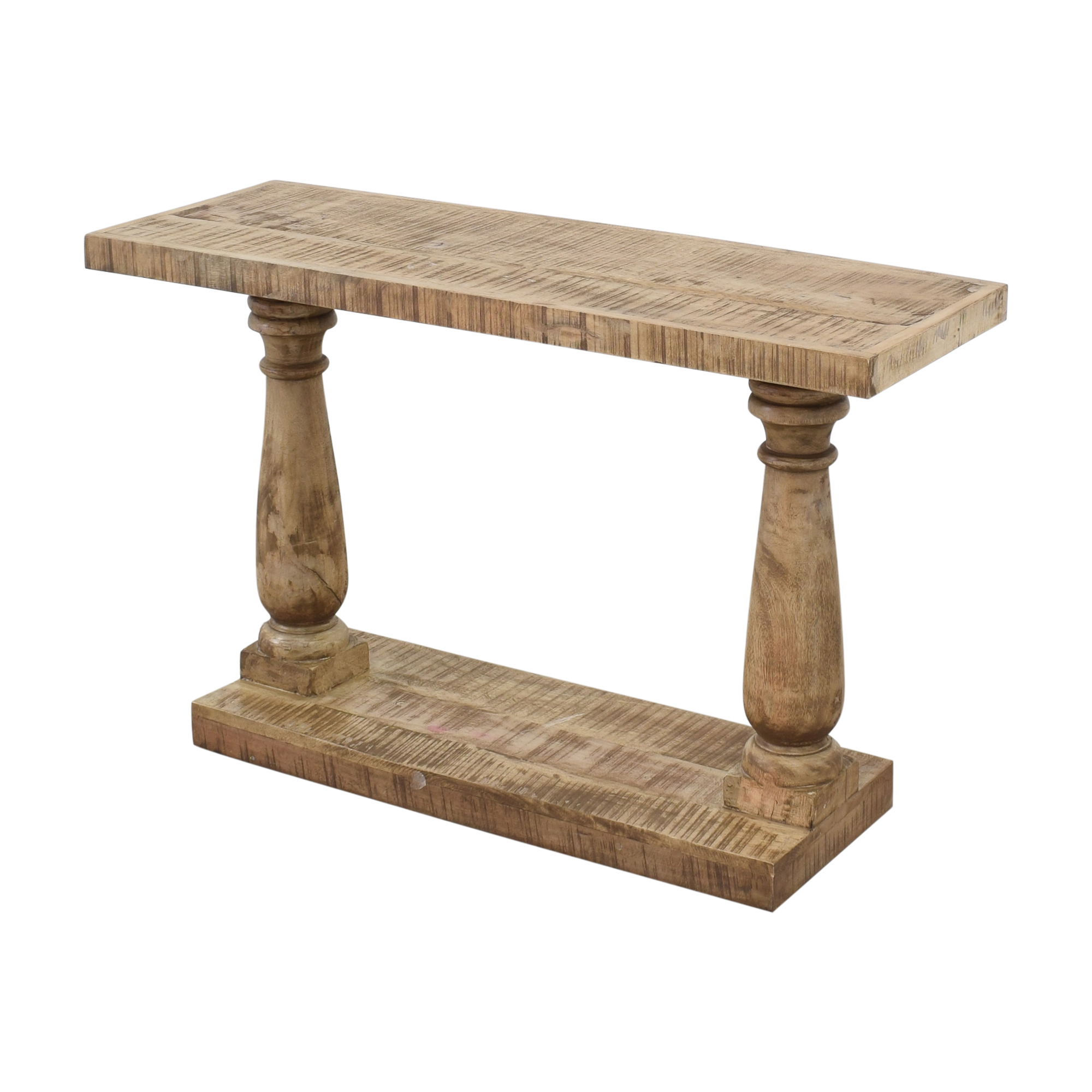 Macy's Macy's Rustic Turned Leg Console Table Accent Tables