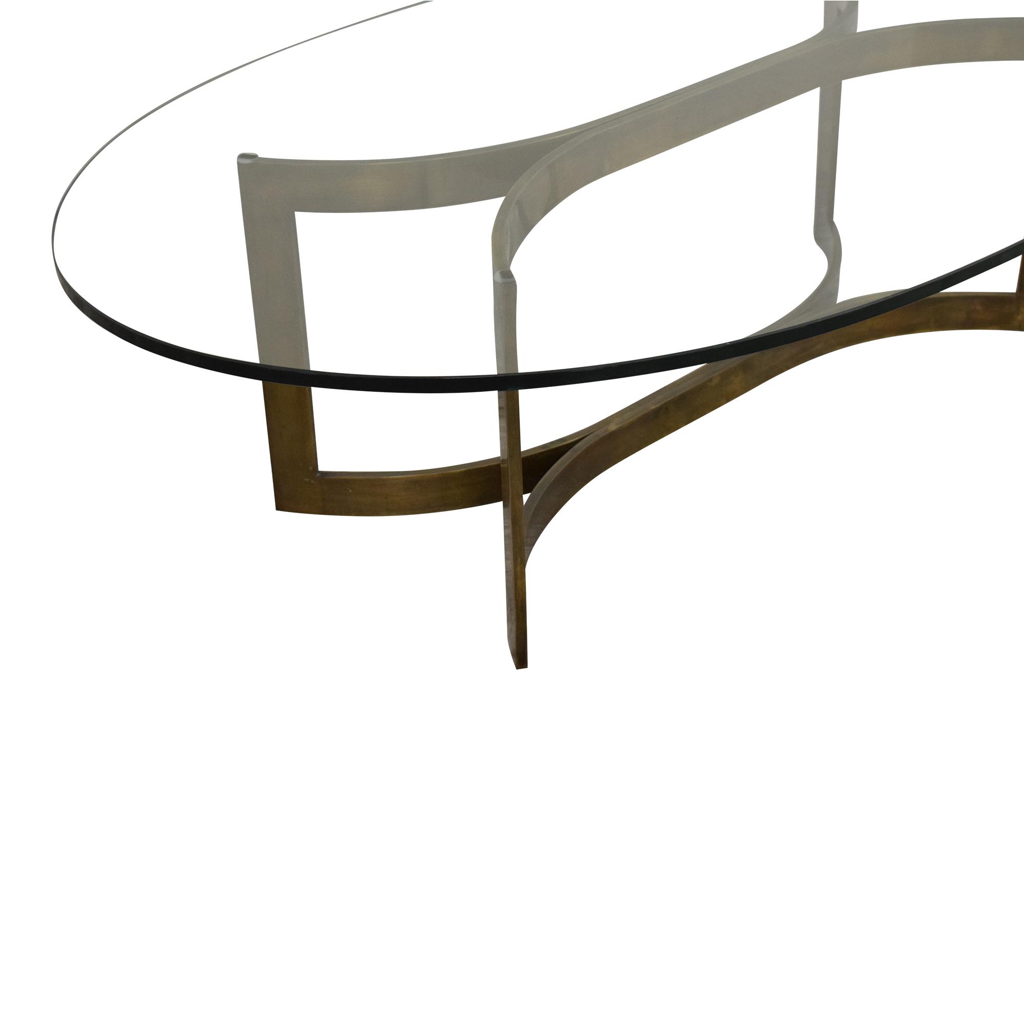 Modern Oval Coffee Table nyc