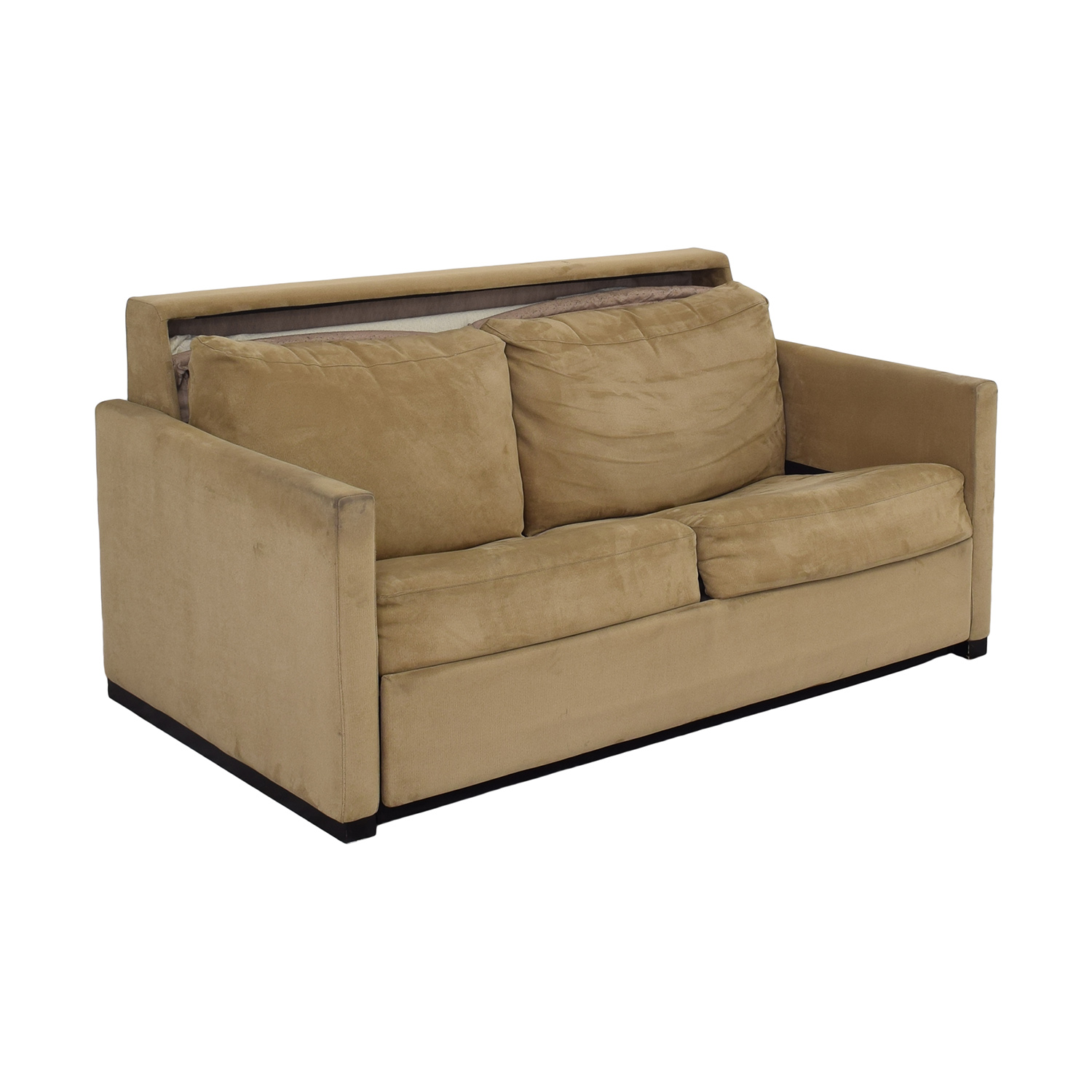 American Leather American Leather Patterson Sleeper Sofa with Ottoman tan