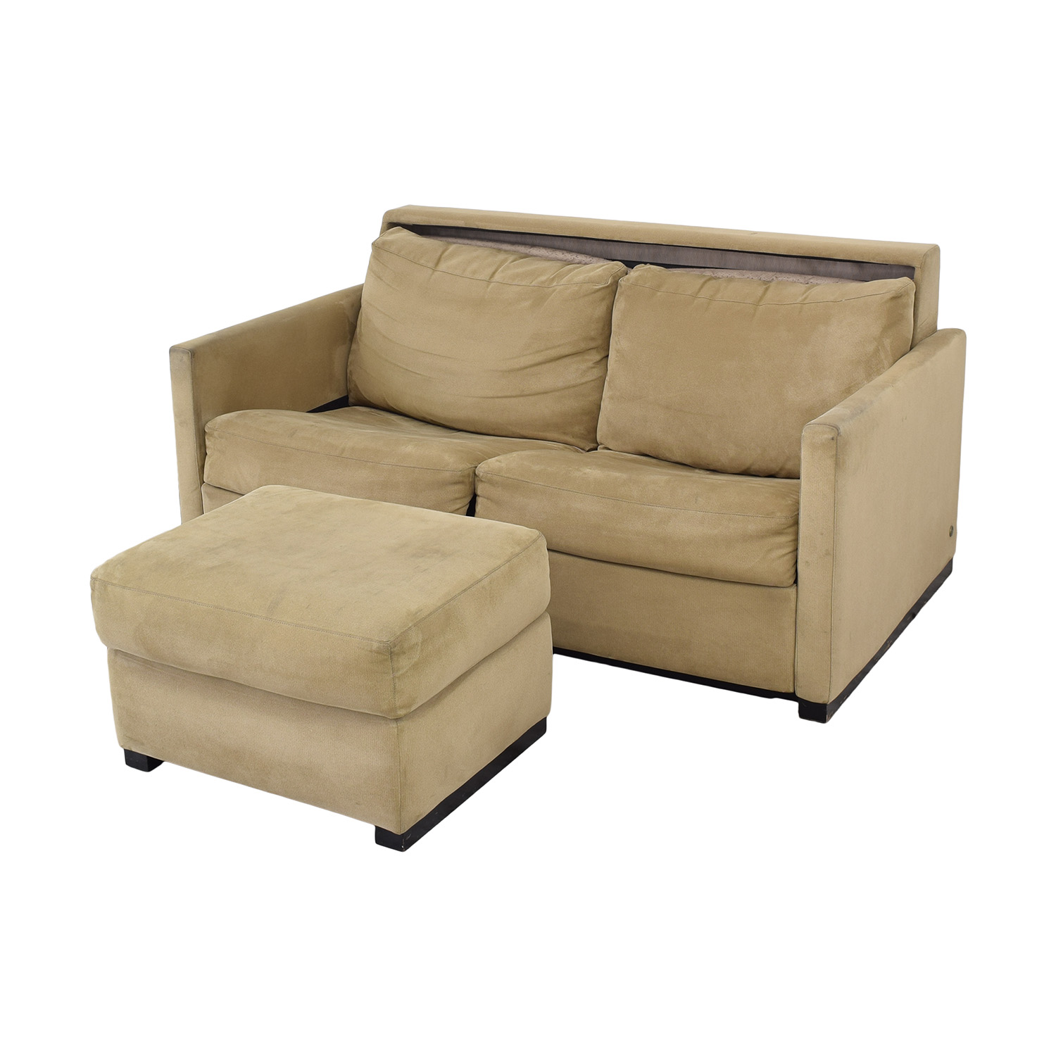 American Leather American Leather Patterson Sleeper Sofa with Ottoman Sofa Beds