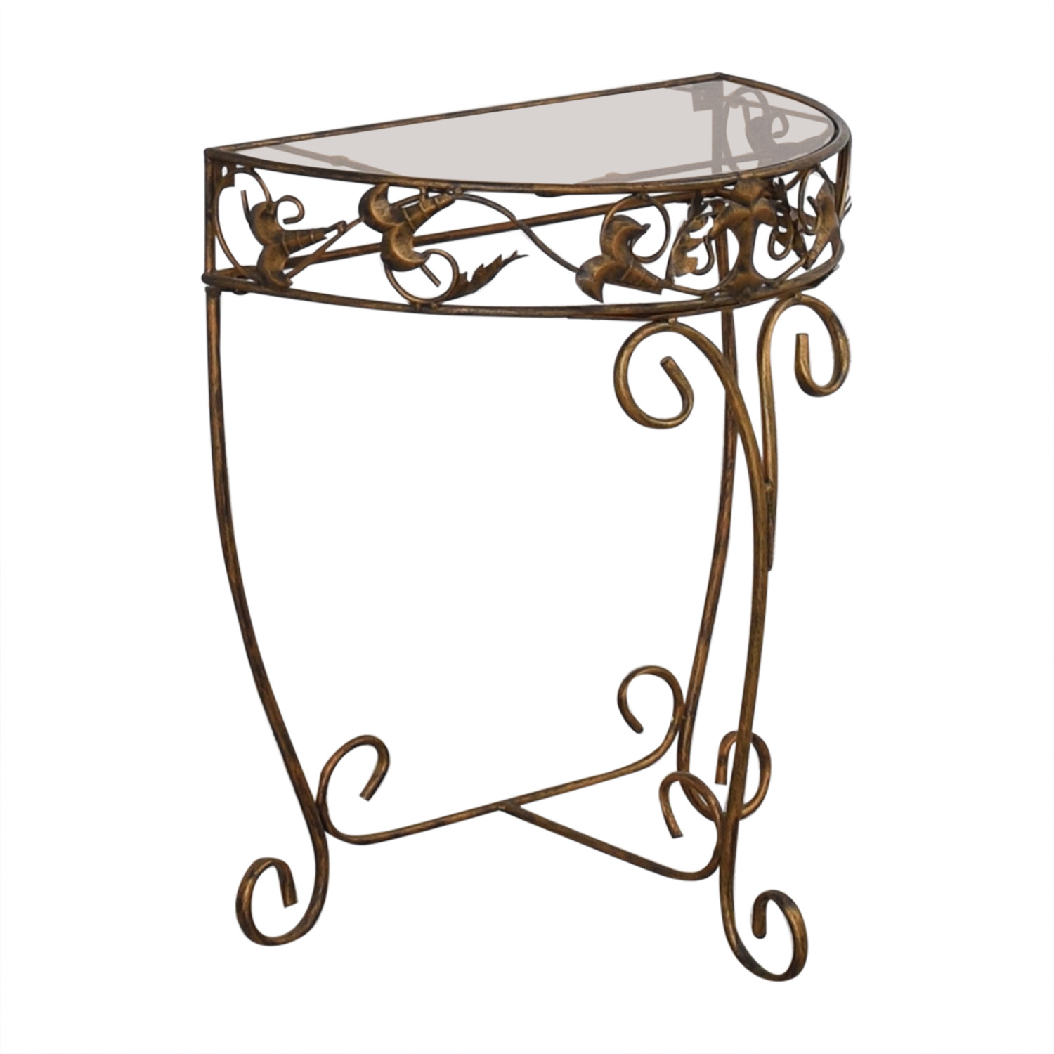 Anthropologie Glass Accent Table / Tables