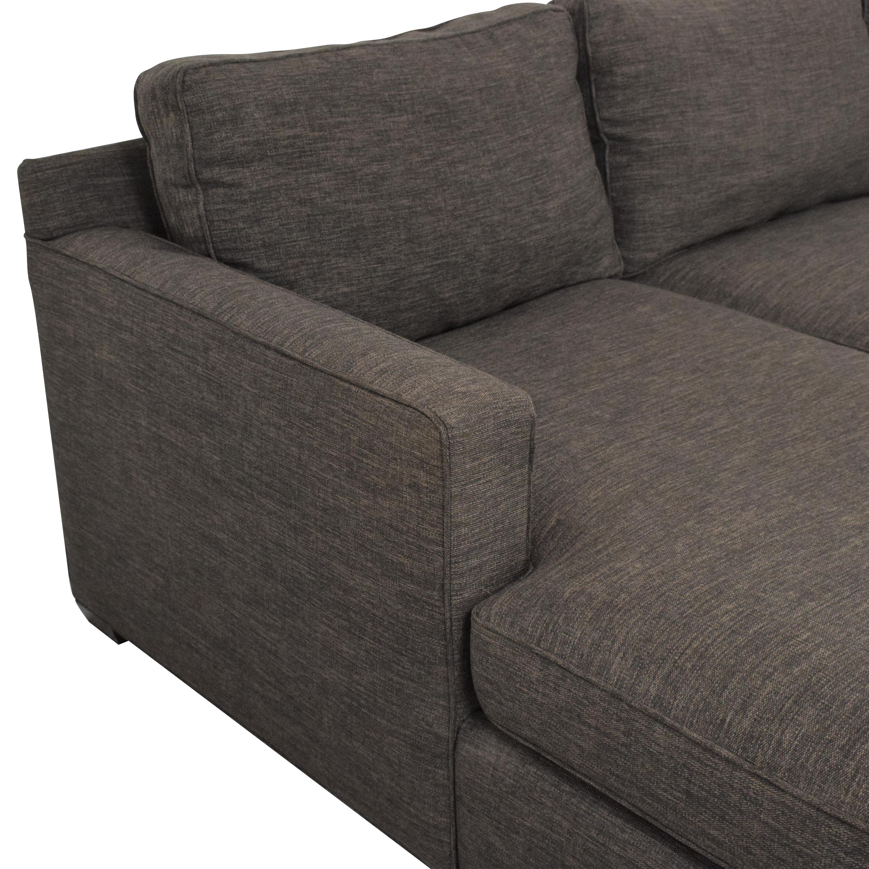 Crate & Barrel Crate & Barrel Sectional Sofa dark grey