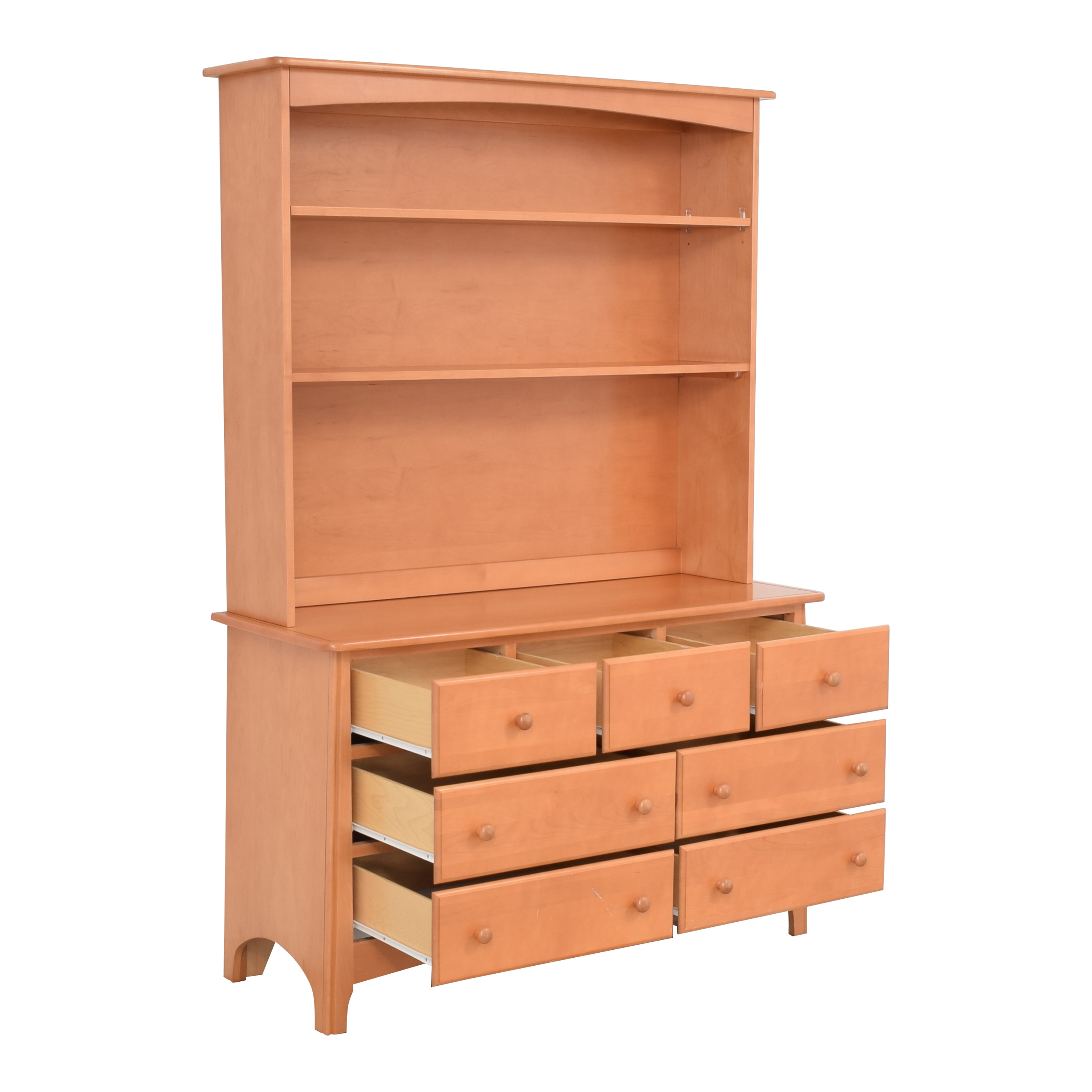 Ragazzi Ragazzi Mission Style Natural Maple Dresser with Hutch pa