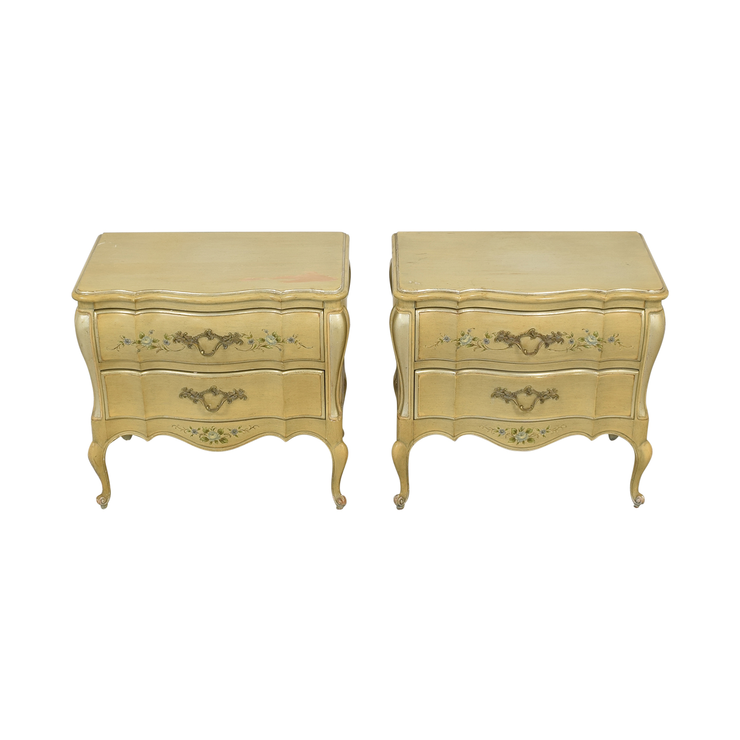 Rucker Industries Rucker Industries Dixon Powdermaker French Provincial Style Nightstands nyc