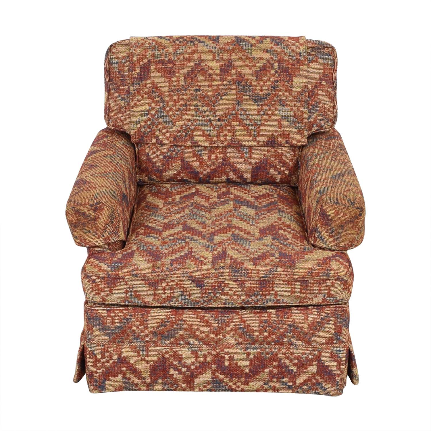 Club Chair with Geometric Fabric sale