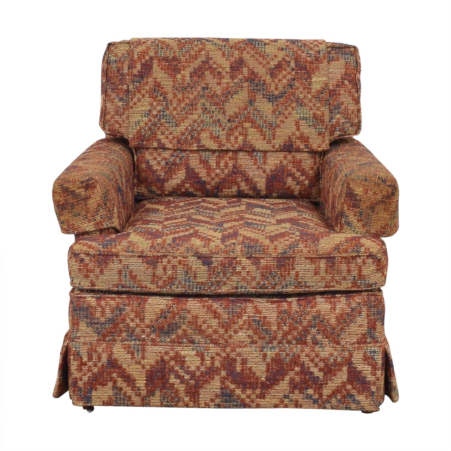 Club Chair with Geometric Fabric on sale
