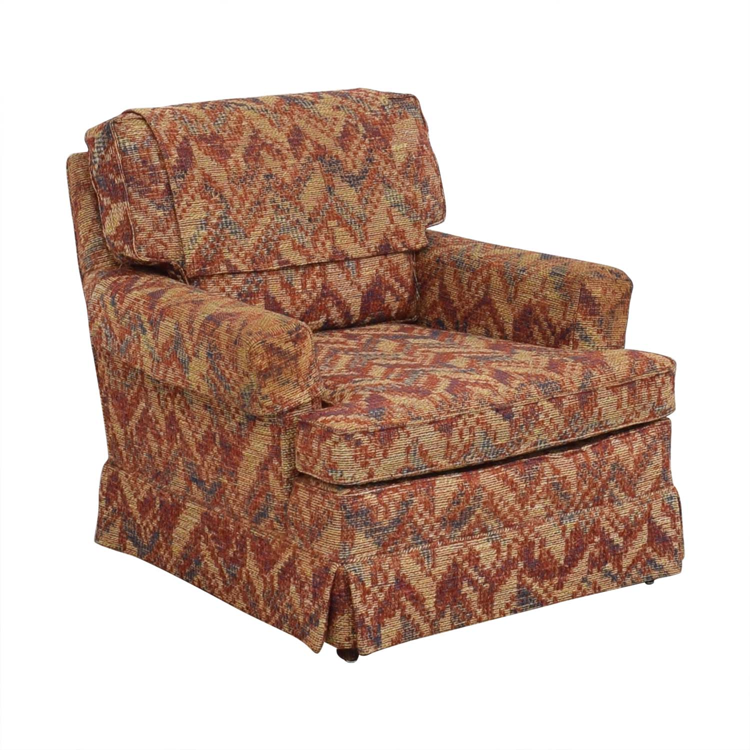 shop Club Chair with Geometric Fabric