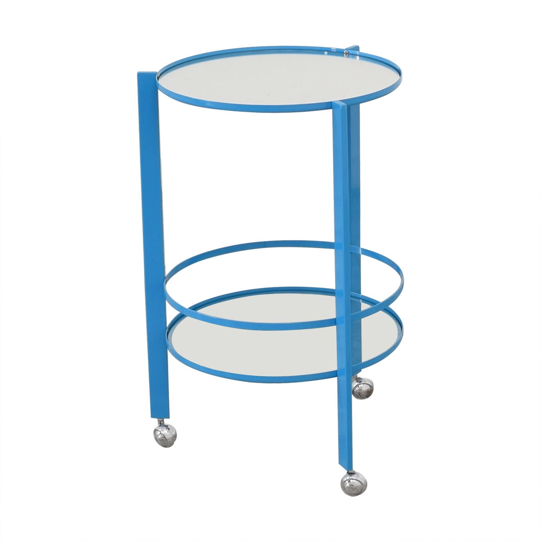 CB2 CB2 Ernest Bar Cart blue