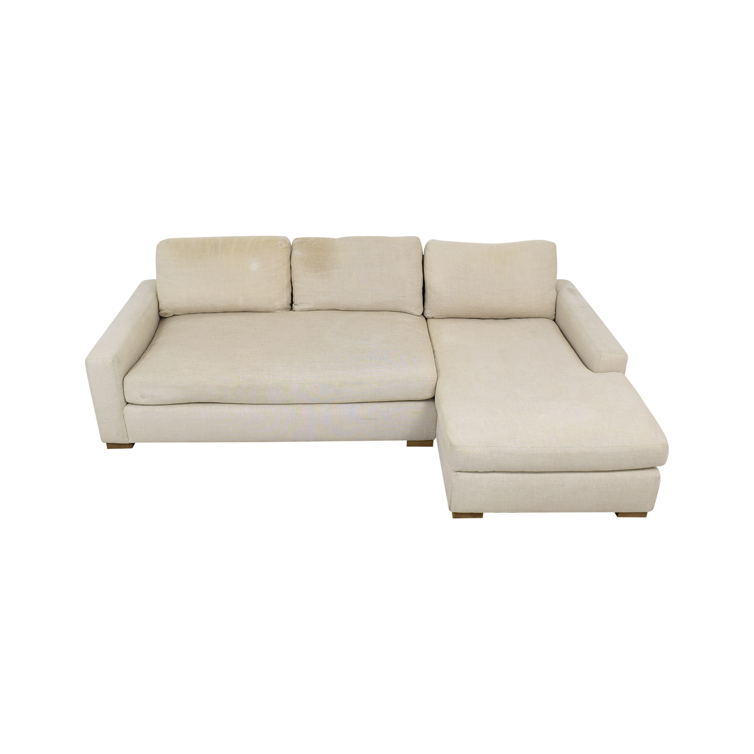 Restoration Hardware Restoration Hardware Maxwell Chaise Sectional Sofa dimensions